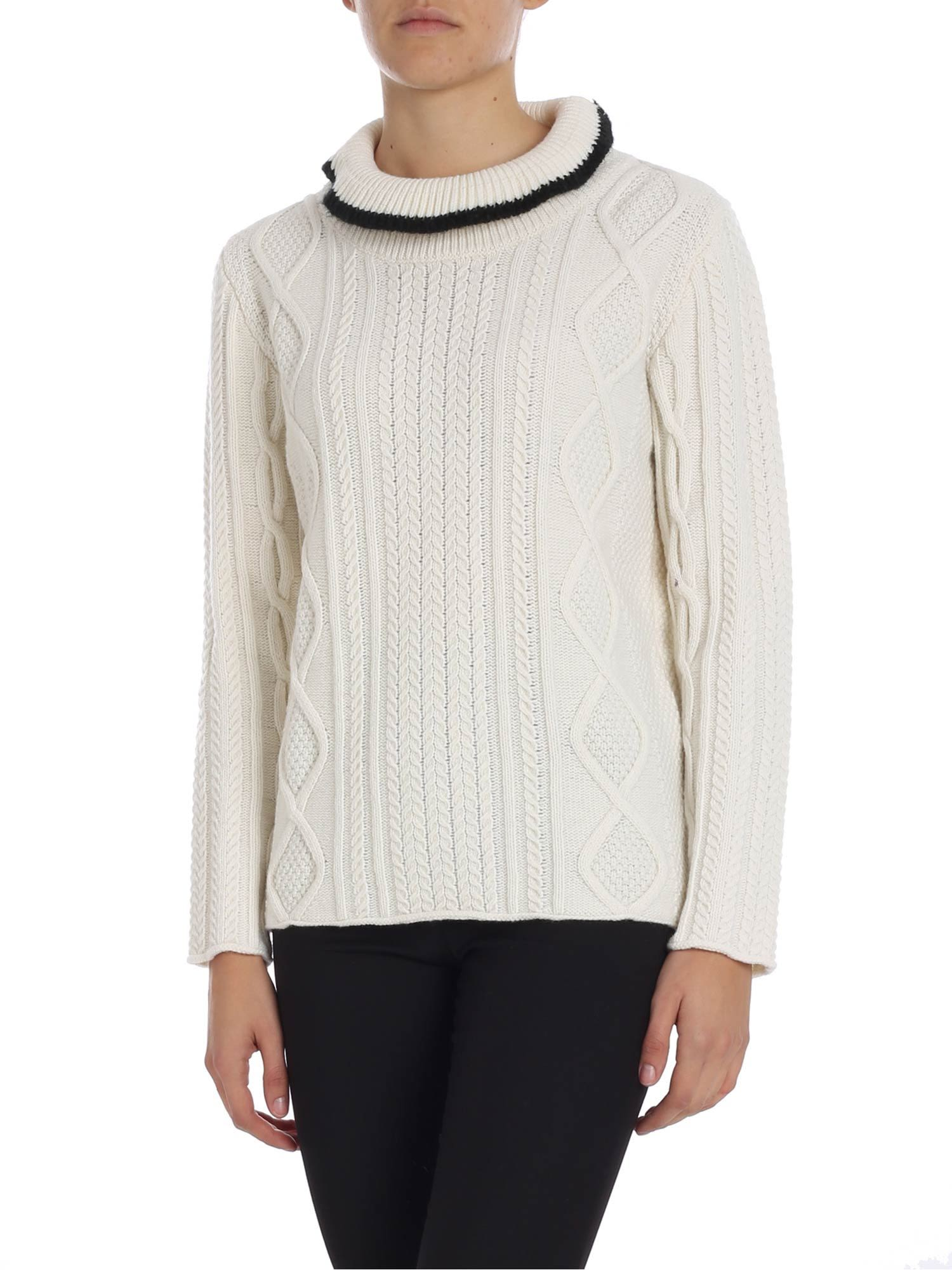 ALTEA High Collar Sweater in Cream