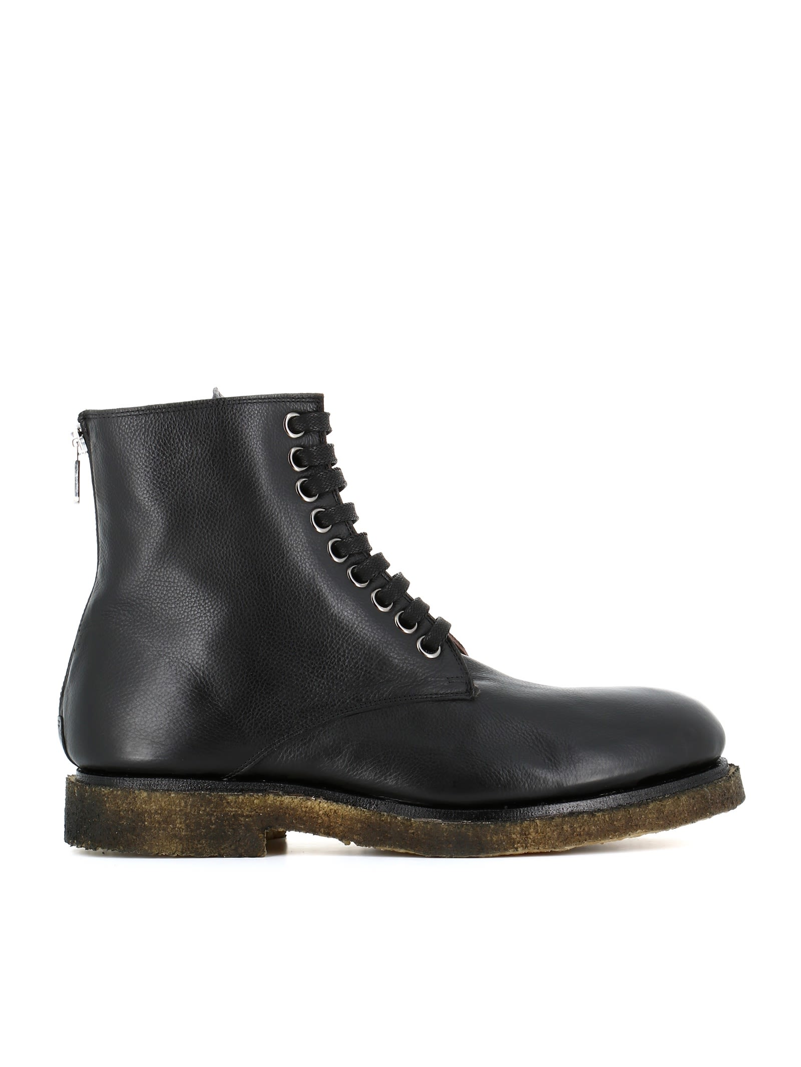 """ROCCO P. Lace-Up Boot """"7103"""" in Black"""