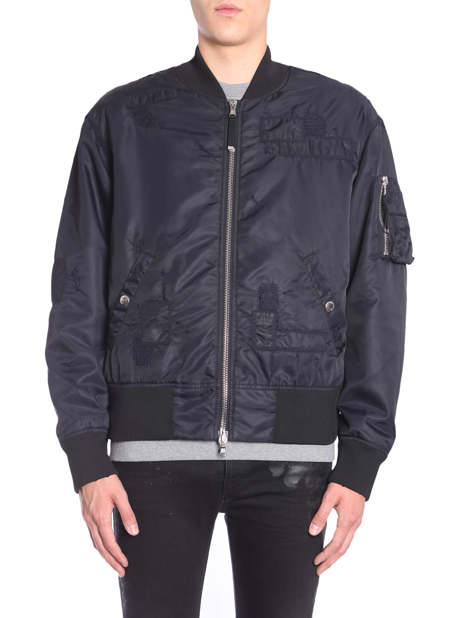 "DIESEL BLACK GOLD ""Jingool-Bus"" Bomber Jacket in Blue"