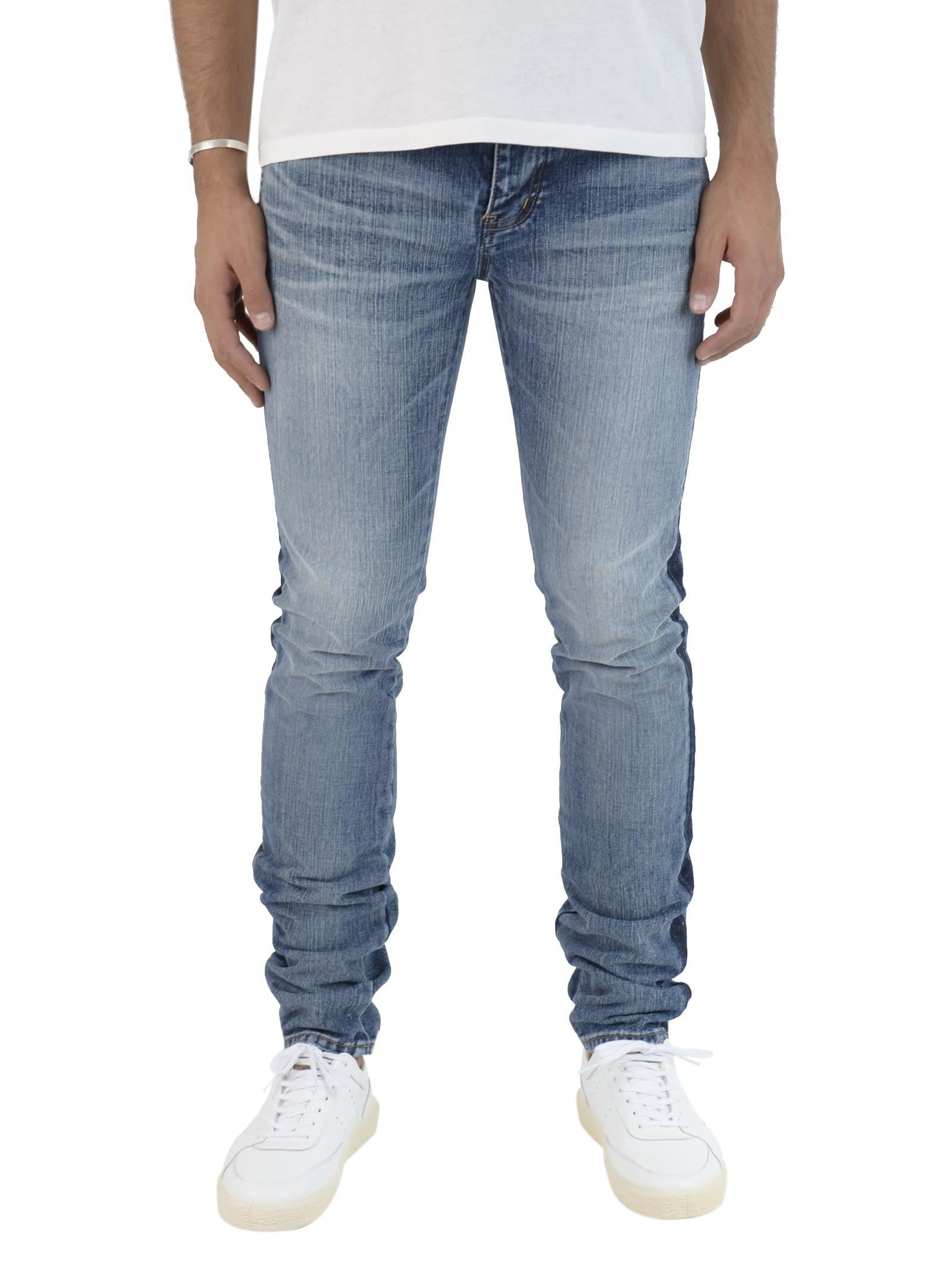 Saint Laurent Medium Blue Logo Signature Jeans 9039139