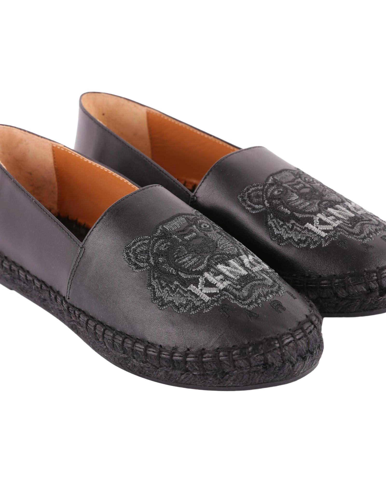 TIGER LEATHER ESPADRILLES