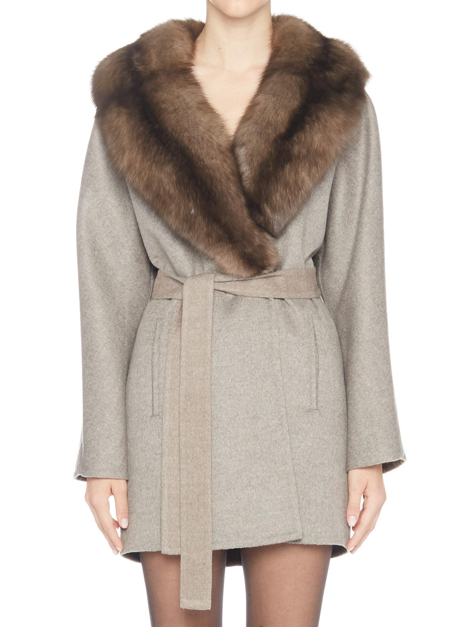 GIULIANA TESO Coat in Brown