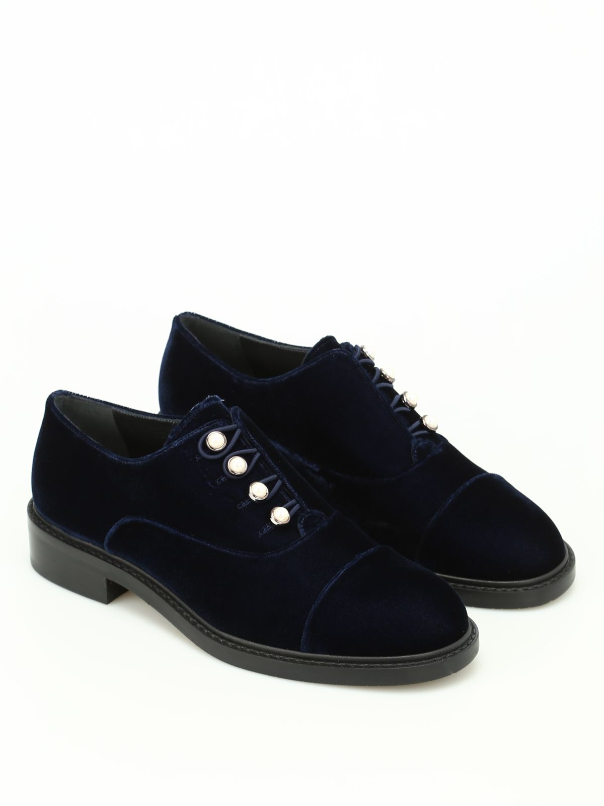 Mrspats Velvet Oxford With Pearls ...