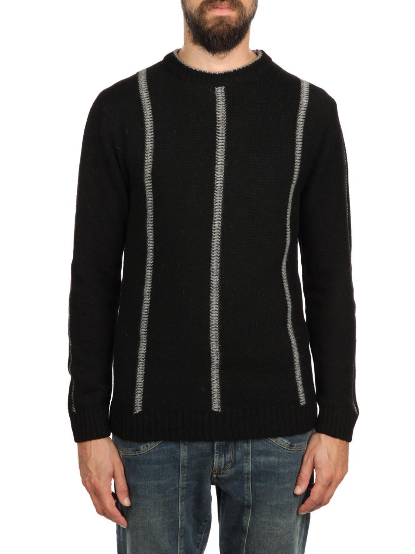 DANIELE FIESOLI Baby Alpaca And Extrafine Merinos Wool Sweater in Black