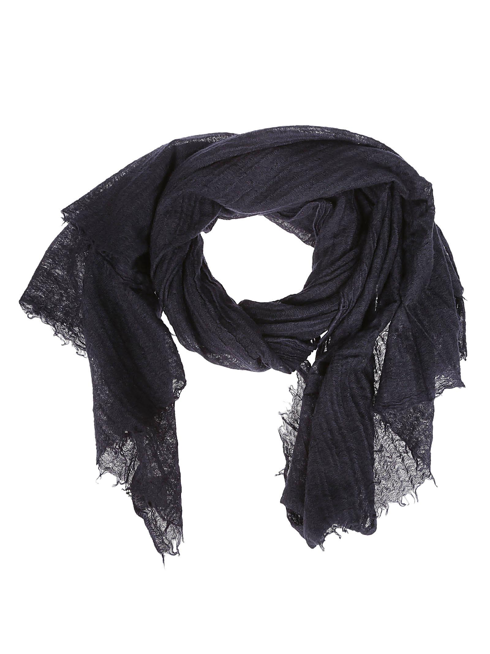 DESTIN SURL Destin Frayed Scarf in Black