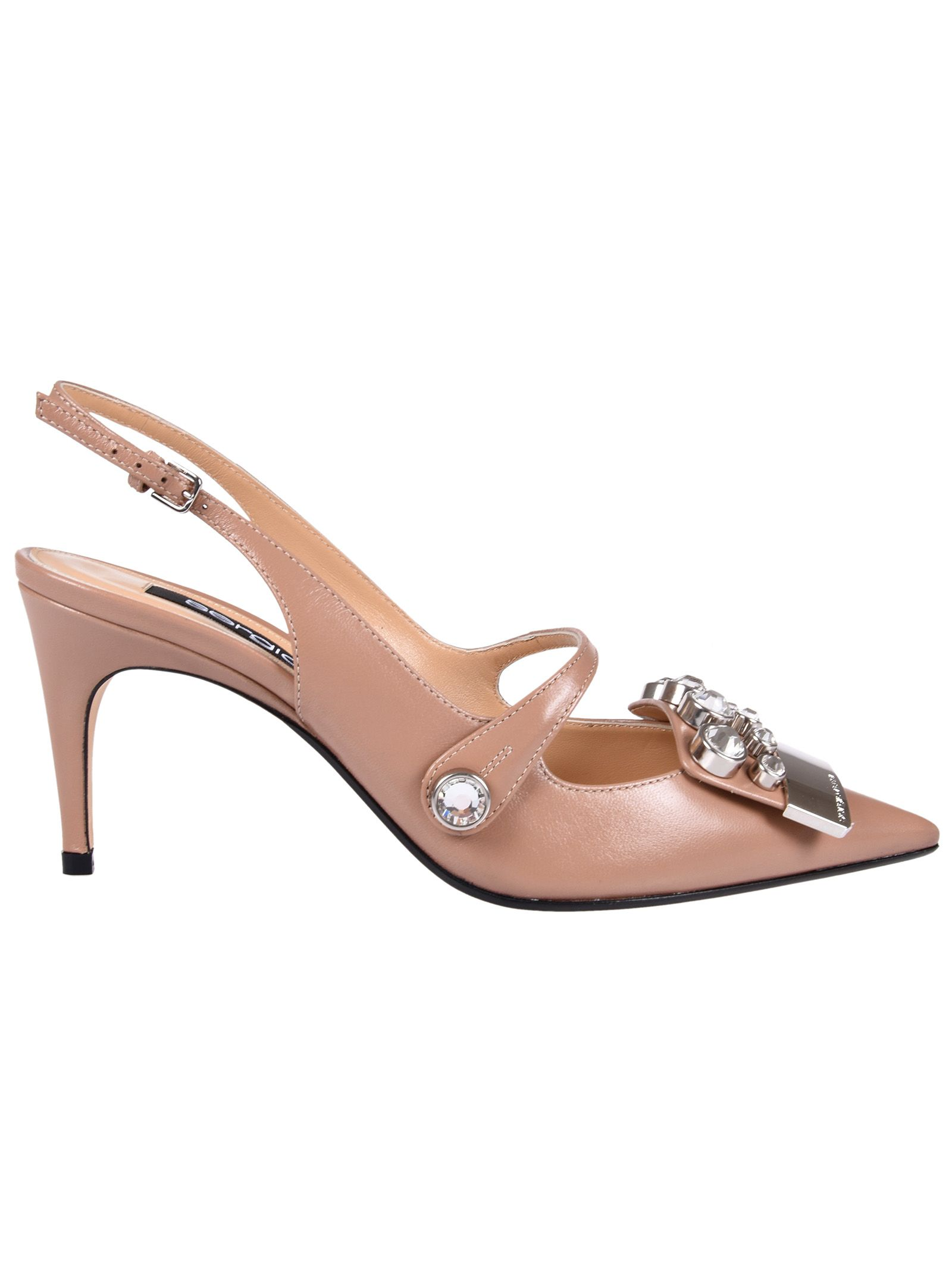 studded mid-heel pumps - Nude & Neutrals Sergio Rossi XFf38ly2xl