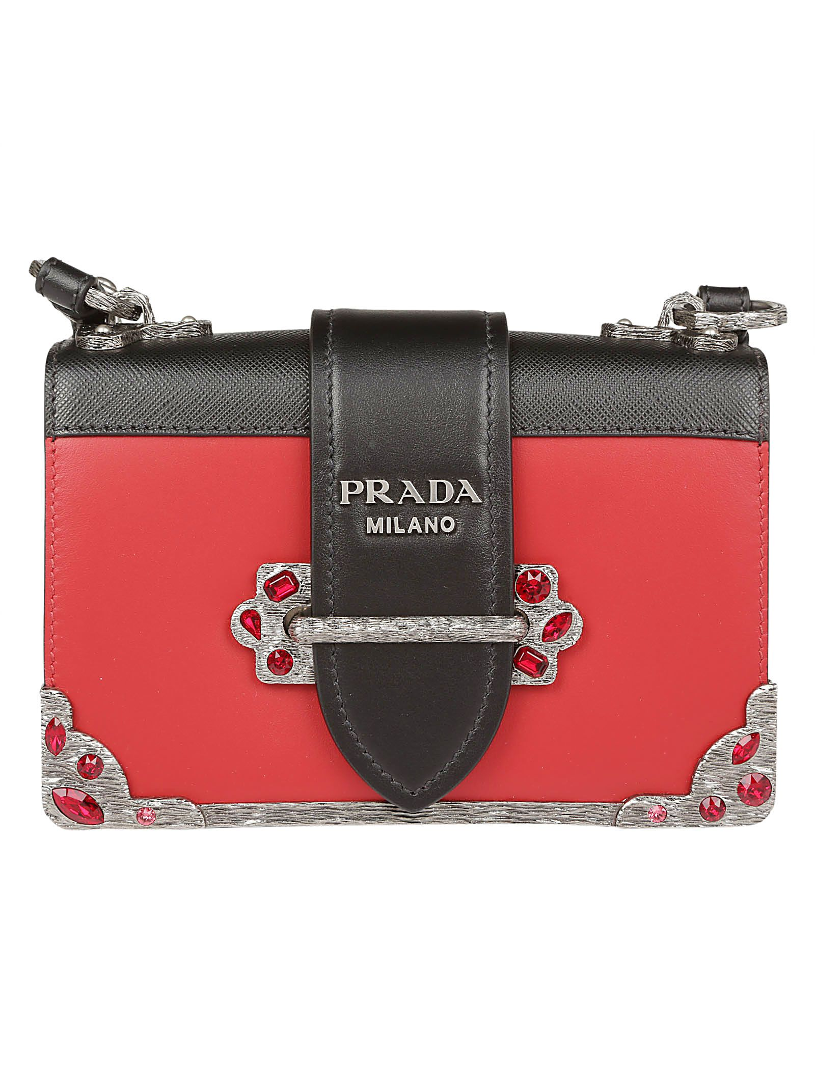 73014663bc94 ... coupon code prada bandoliera shoulder bag in fuoco nero 47de7 d240c