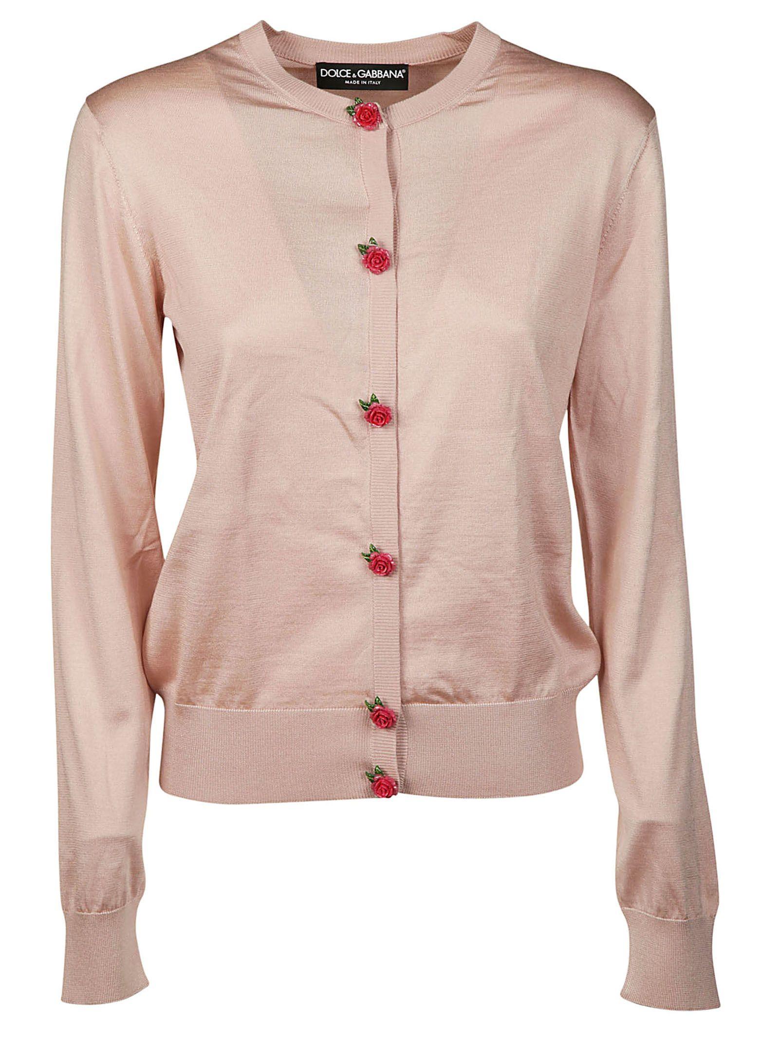 Dolce & Gabbana Rose Embellished Cardigan