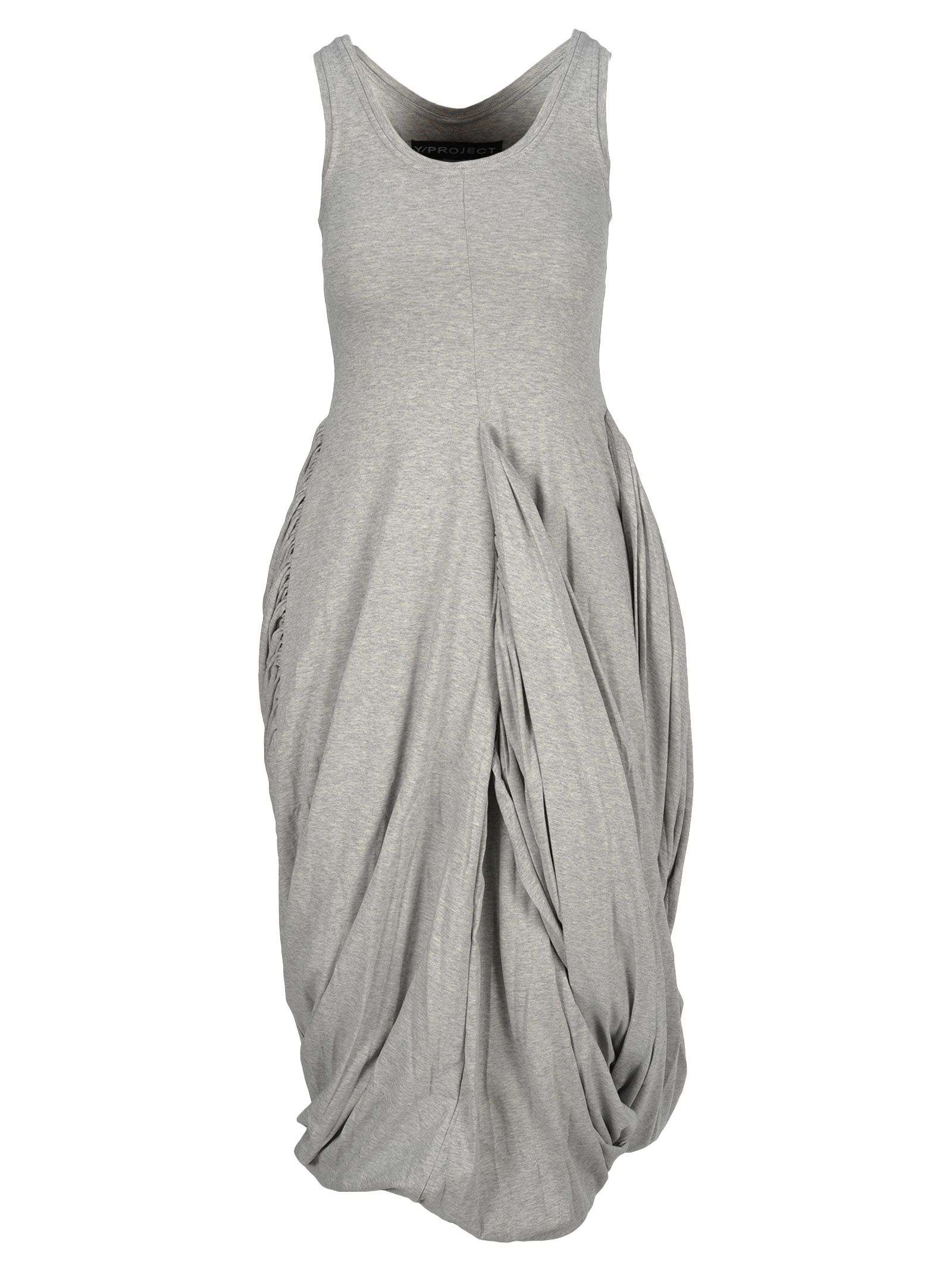 Y/Project Drapped Jersey Dress, Grey