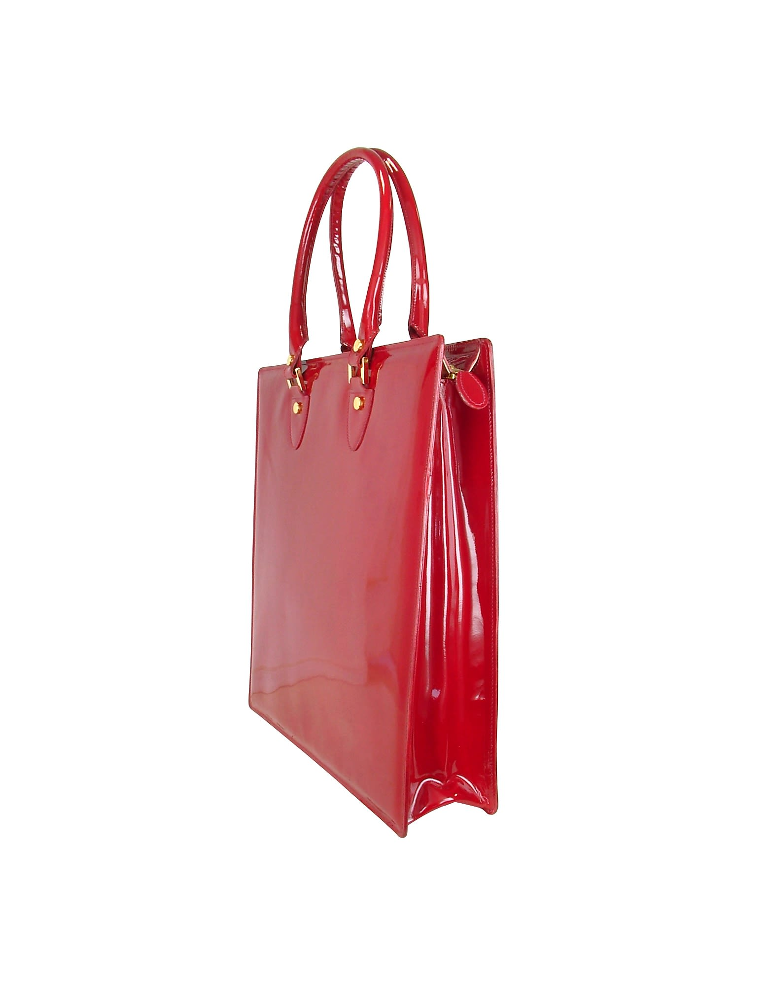 L.A.P.A. Handbags, Ruby Patent Leather Tote Bag