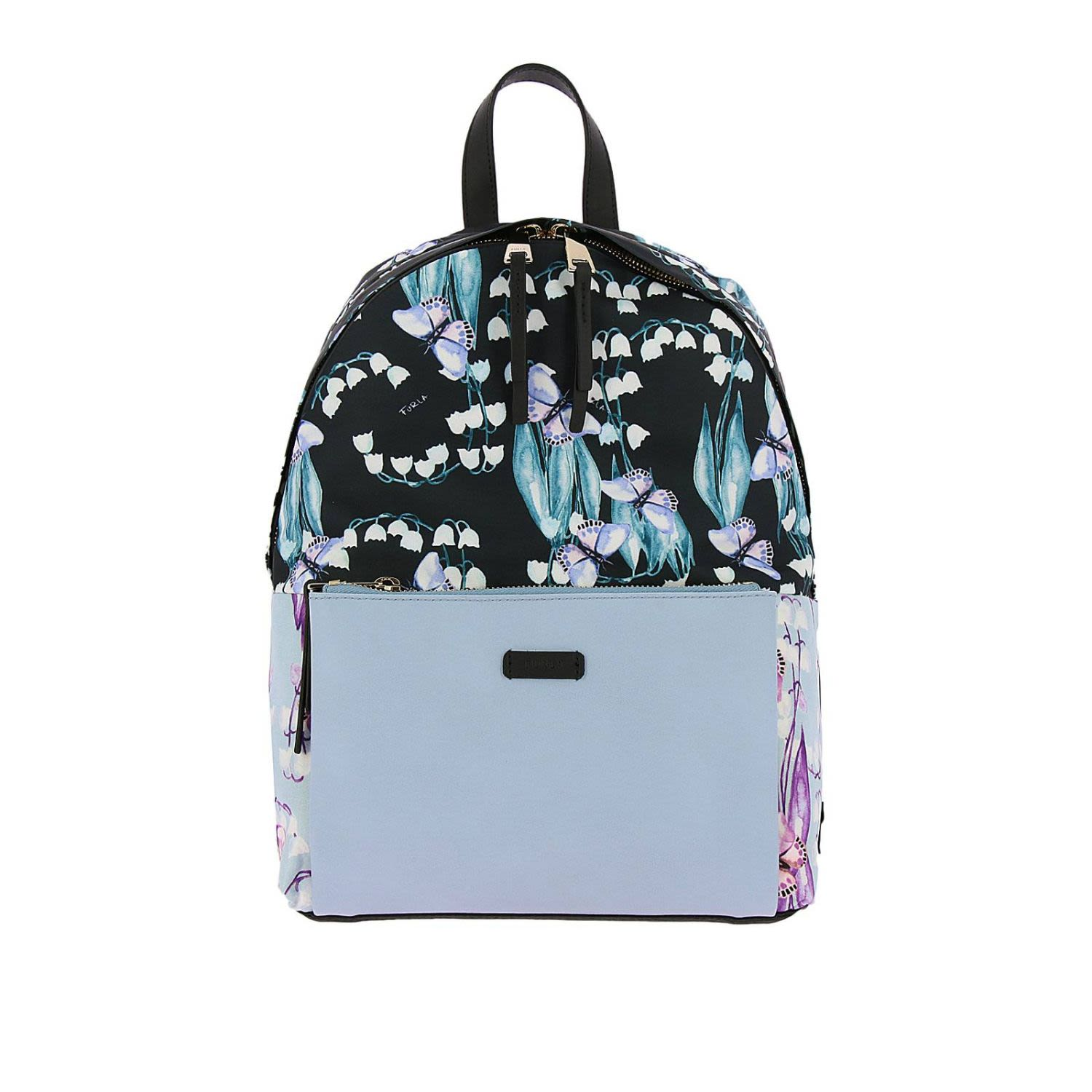 Giudecca Small Floral Print Backpack, Blue