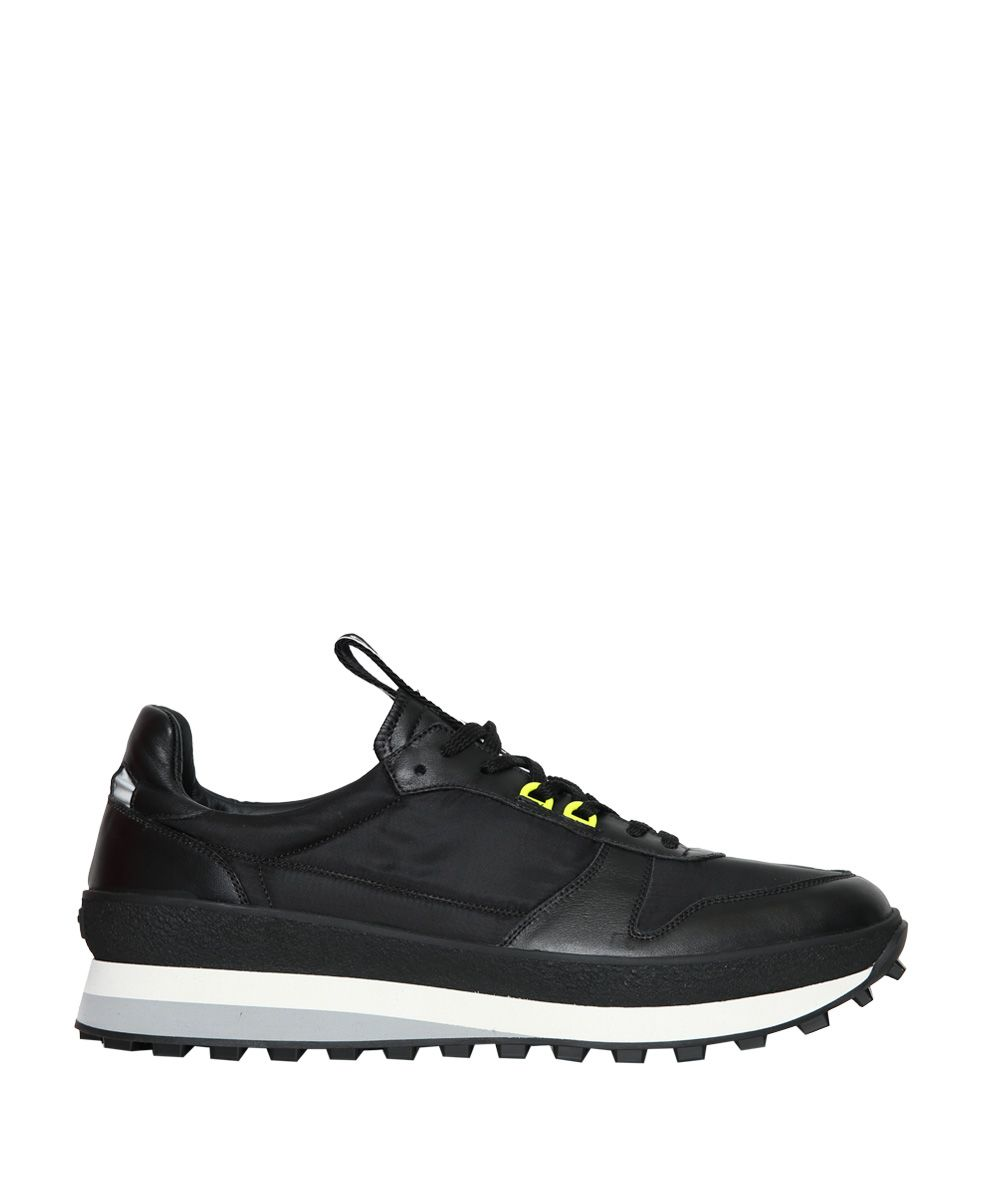 GIVENCHY BLACK PANELLED RUNNING SNEAKERS