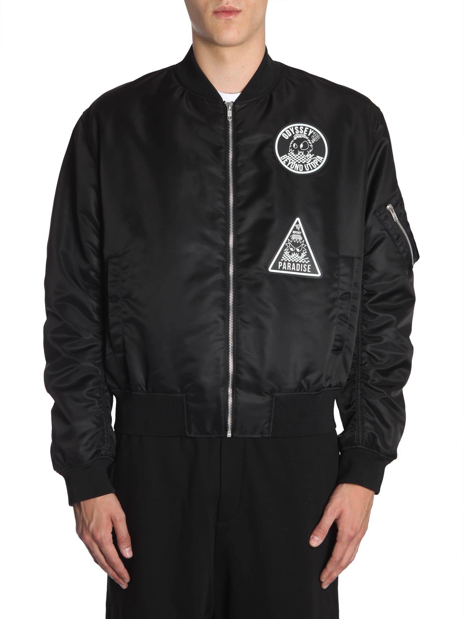 MCQ BY ALEXANDER MCQUEEN BOMBER JACKET WITH PATCH
