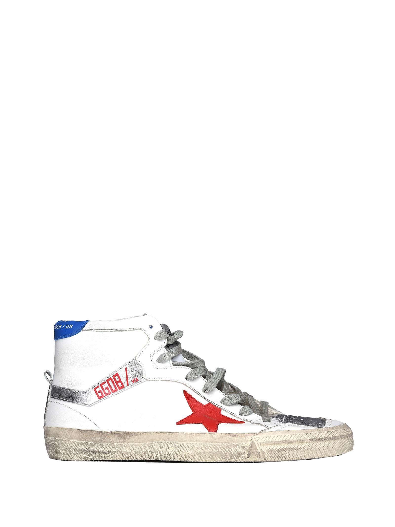 2.12 Sneakers In White, Red And Blue Leather