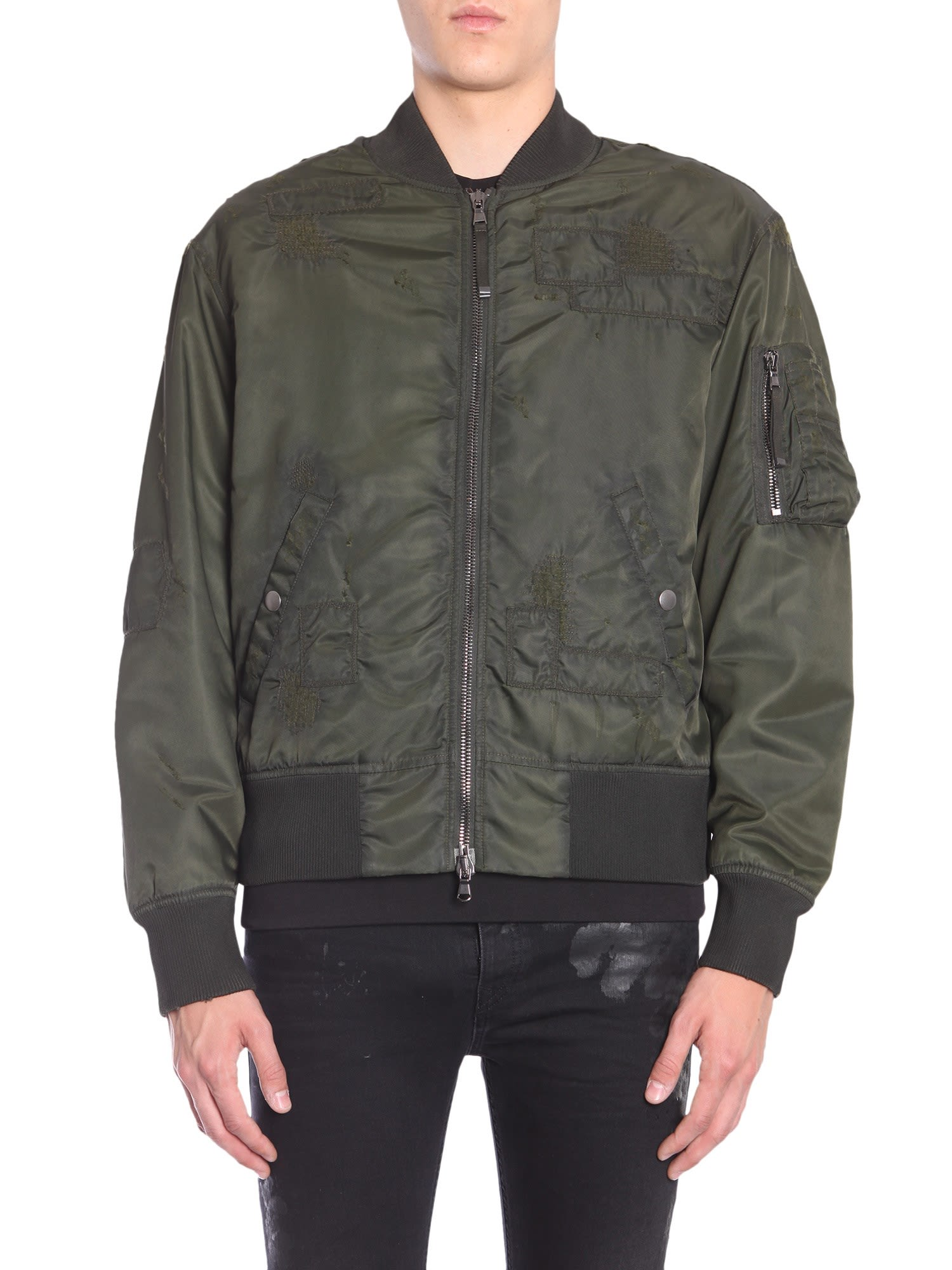 "DIESEL BLACK GOLD ""Jingool-Bus"" Bomber Jacket in Green"