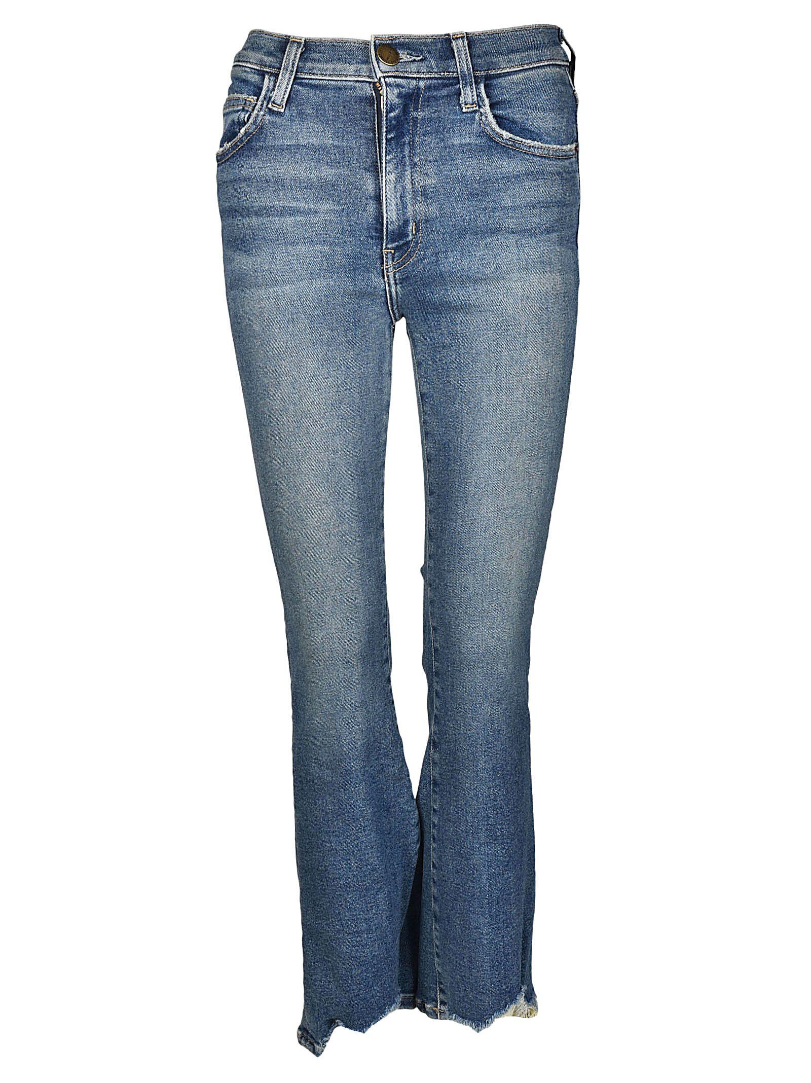 Current/elliott Woman Flared Jeans Dark Denim Size 25 Current Elliott mIFyJ3Vh