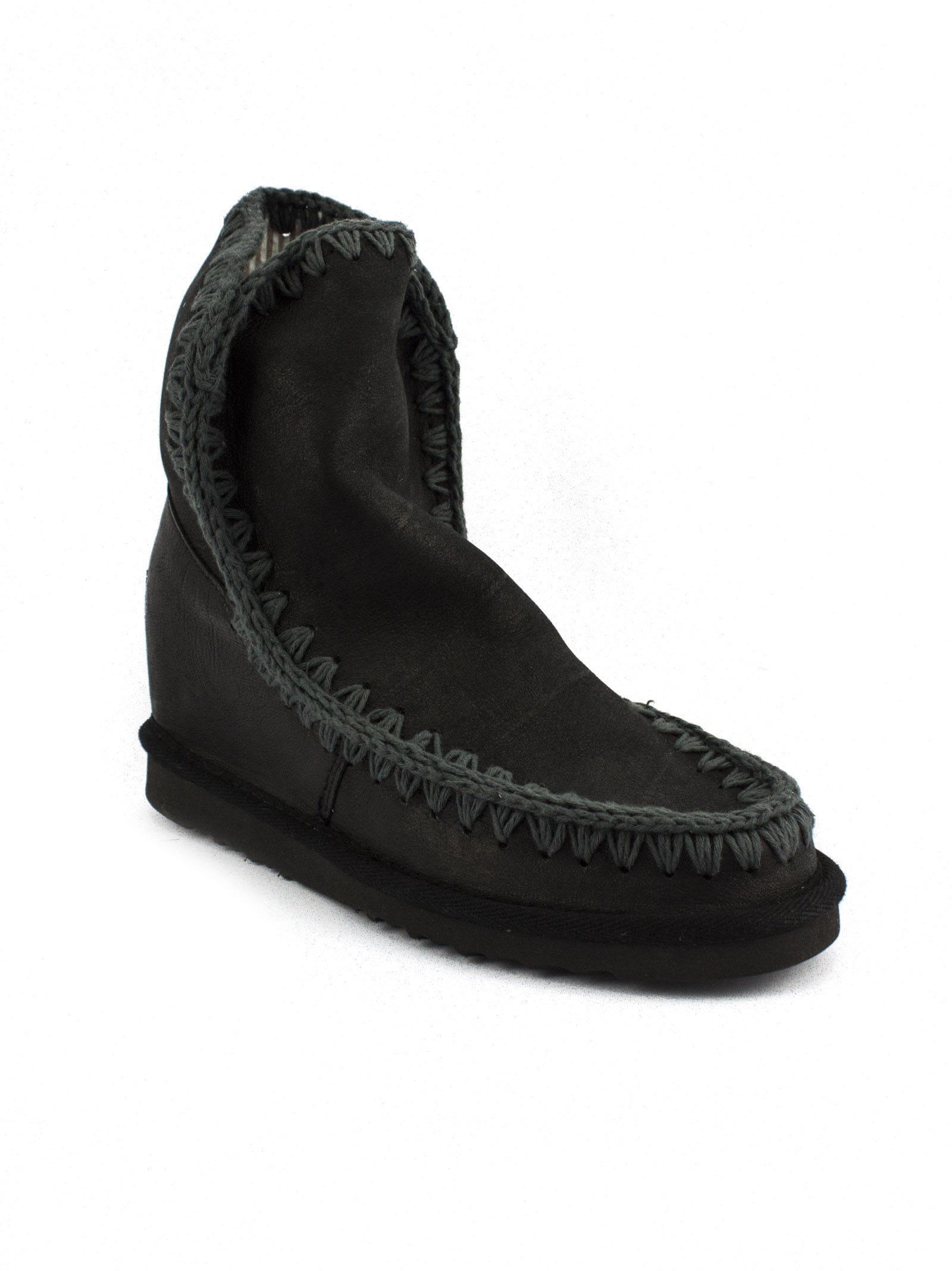 Mou Eskimo In Black Vintage Leather. Supply Get Authentic Sale Online Cheap Sale Enjoy NH4nbhkz