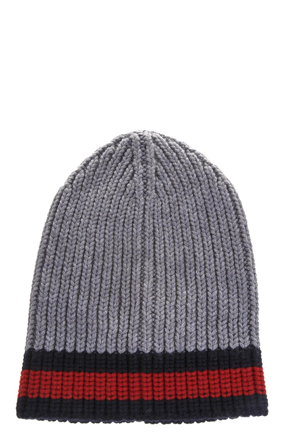 Gucci Web Wool Cable Knit Beanie Hat In Anthracite  1a0d21bc2b8