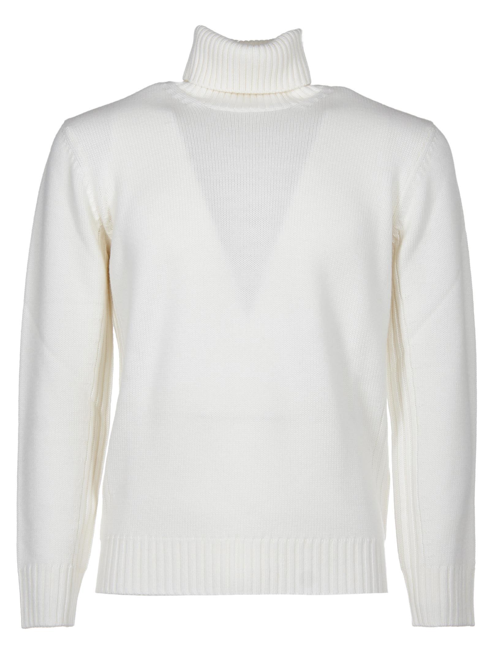 KANGRA Roll Neck Sweater in White