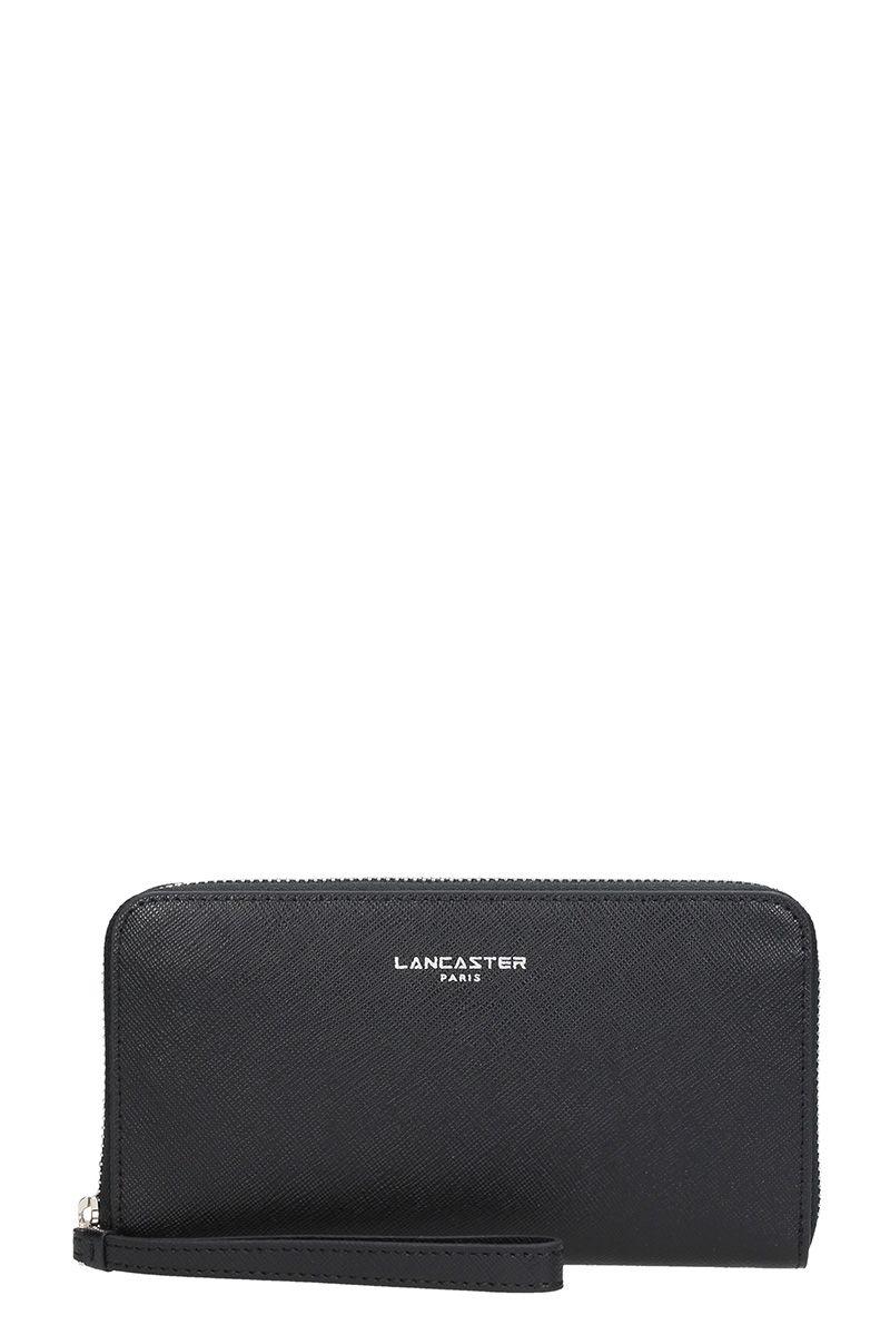 Lancaster Paris Adele Black Saffiano Leather Wallett
