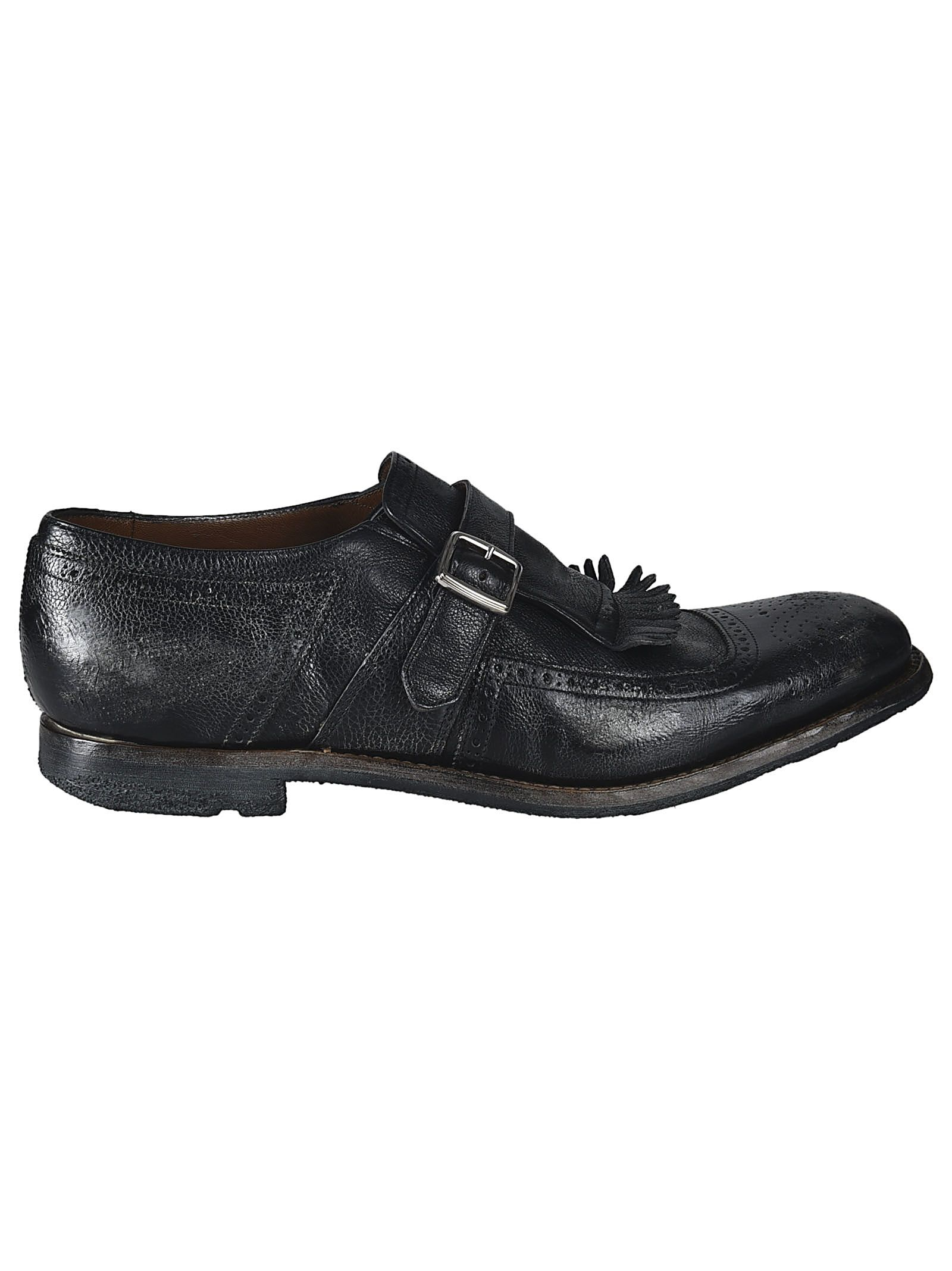 CHURCH'S FRINGED BUCKLE LOAFERS