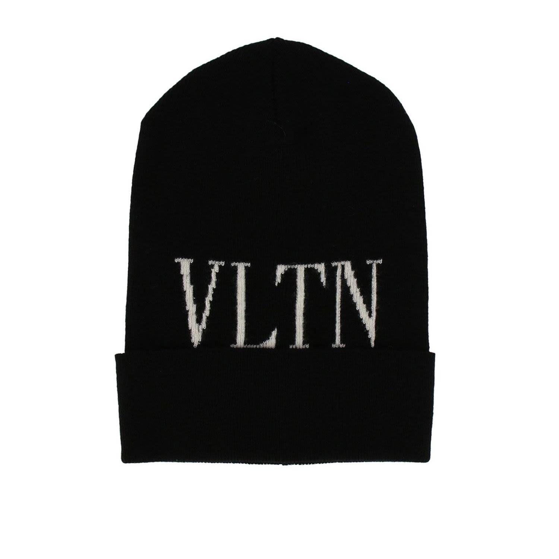 Garavani Vltn Wool & Cashmere Beanie - Black