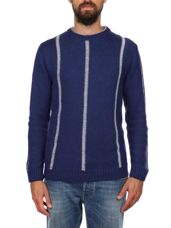 DANIELE FIESOLI Baby Alpaca And Extrafine Merinos Wool Sweater in Bluet