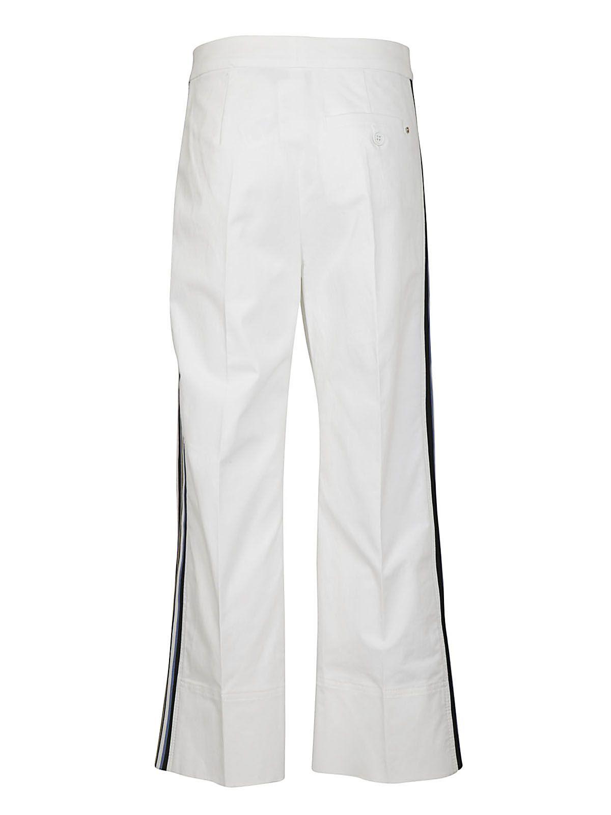 Pantalon Rayé Côté - Sportmax Blanc obOkYbYd