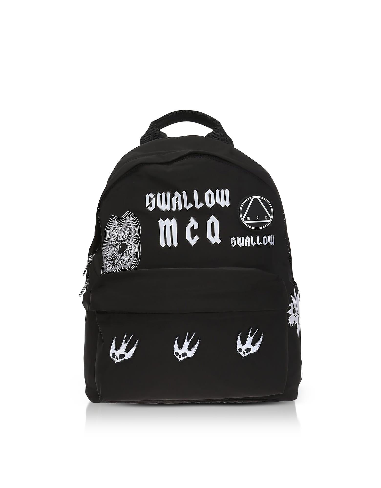 fc96c7b9f24 Mcq By Alexander Mcqueen Mcq Alexander Mcqueen Sponsorship Black Nylon  Women S Backpack W  Badges