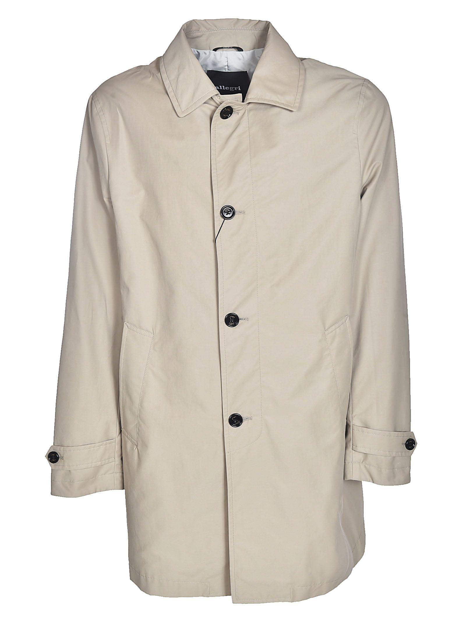 ALLEGRI Single Breasted Coat in Grey