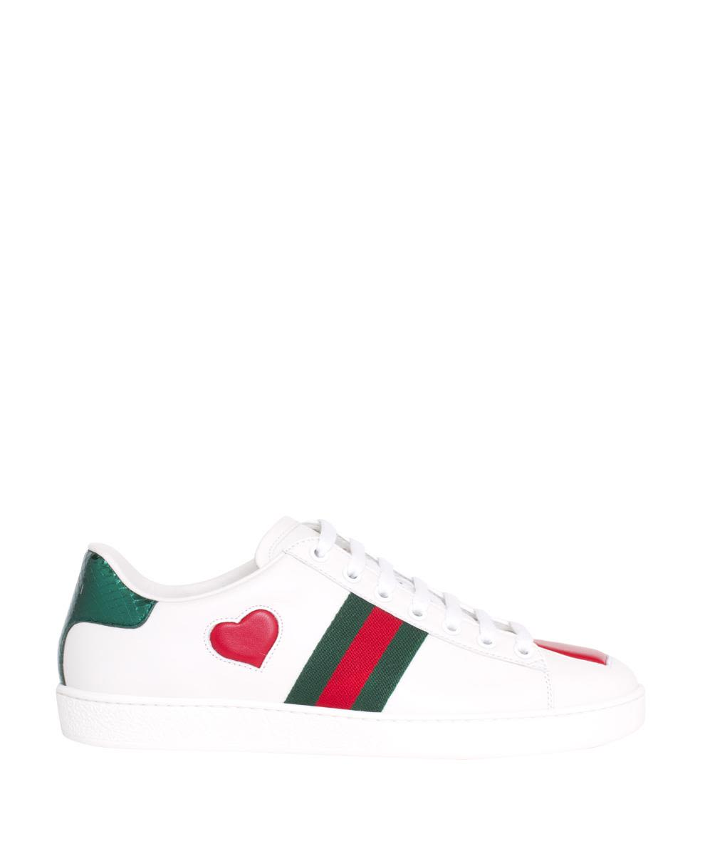 New Ace Heart Leather Sneakers
