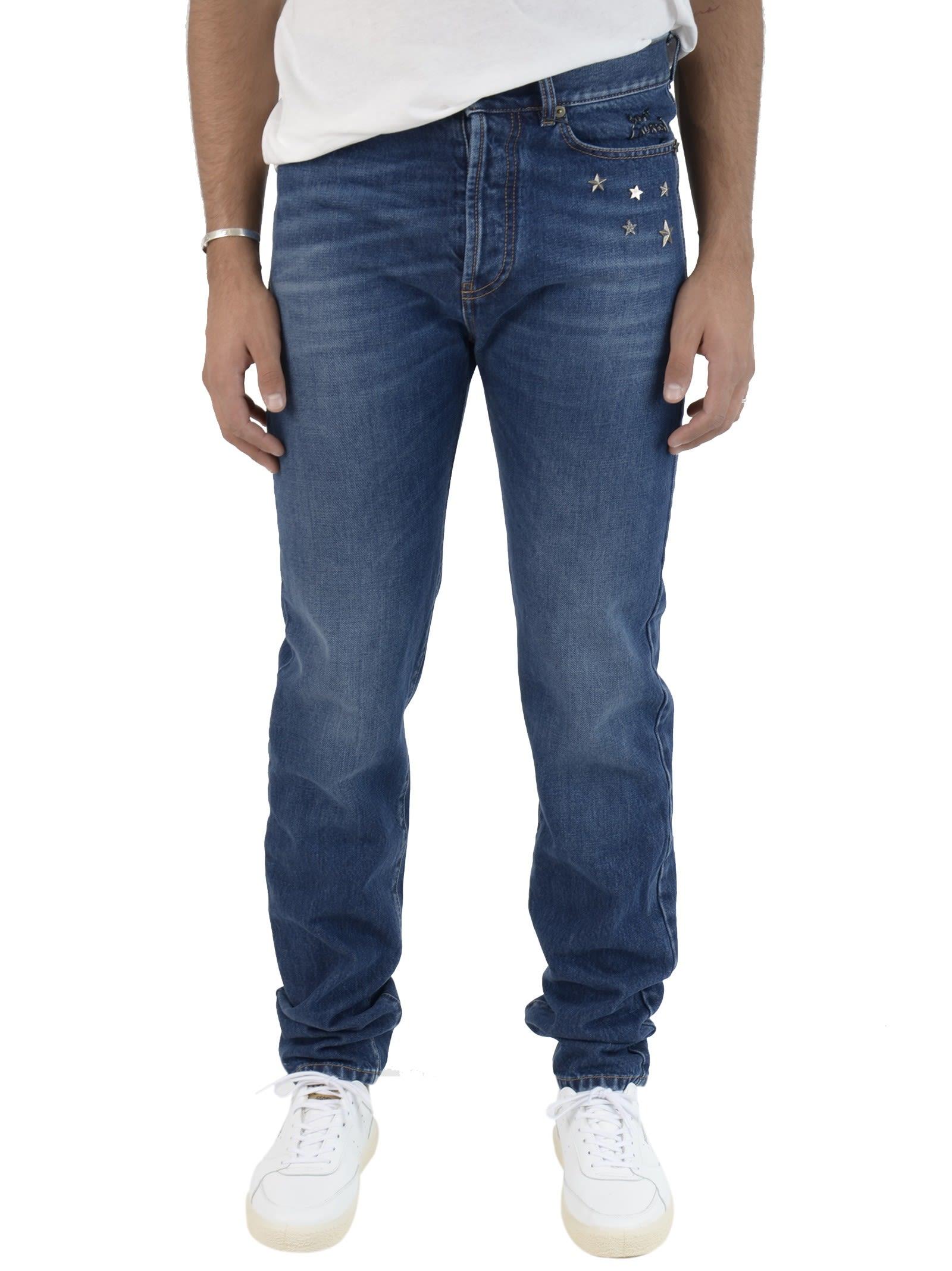 Saint Laurent Dark Blue Stars Jeans 9039142