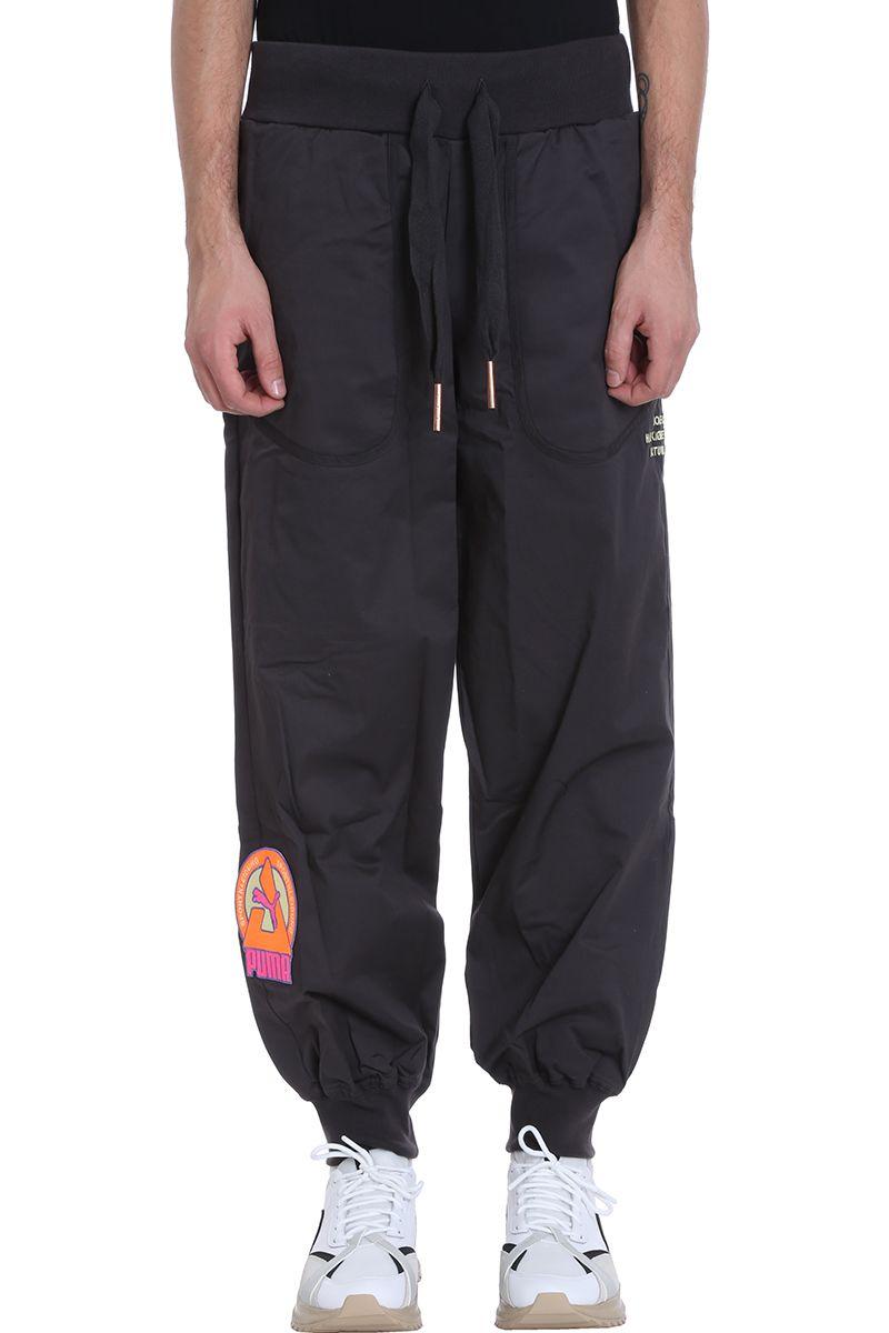 PUMA X HAN KJOBENHAVN Phantom Grey Cotton Pants in Black