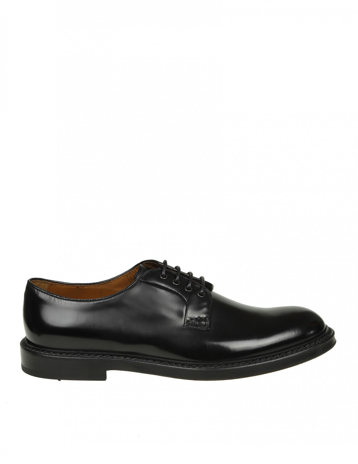 DOUCALS DERBY LEATHER BRUSHED BLACK