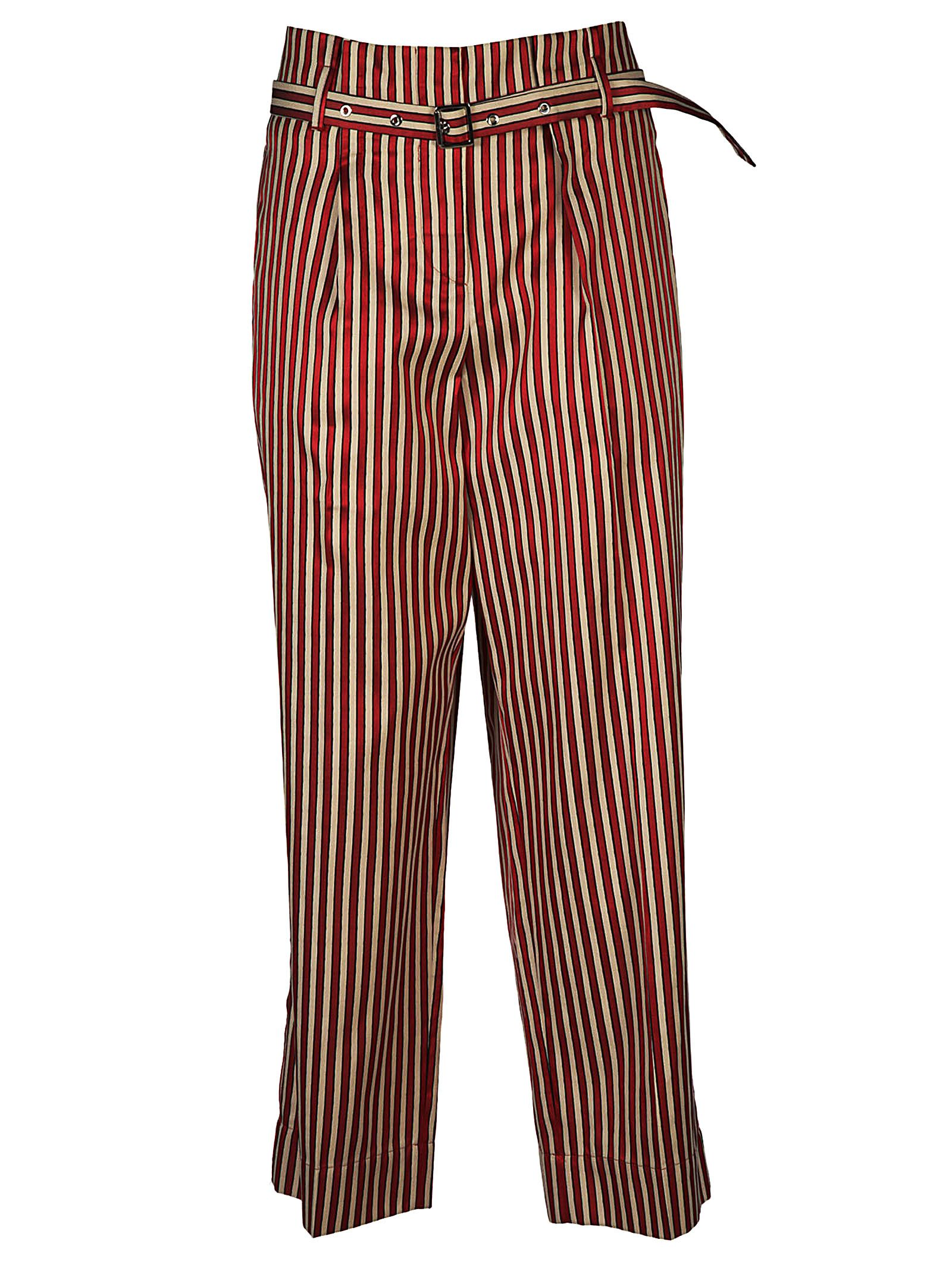 high-waisted striped trousers - Red Giorgio Armani CnFmdCHA0T