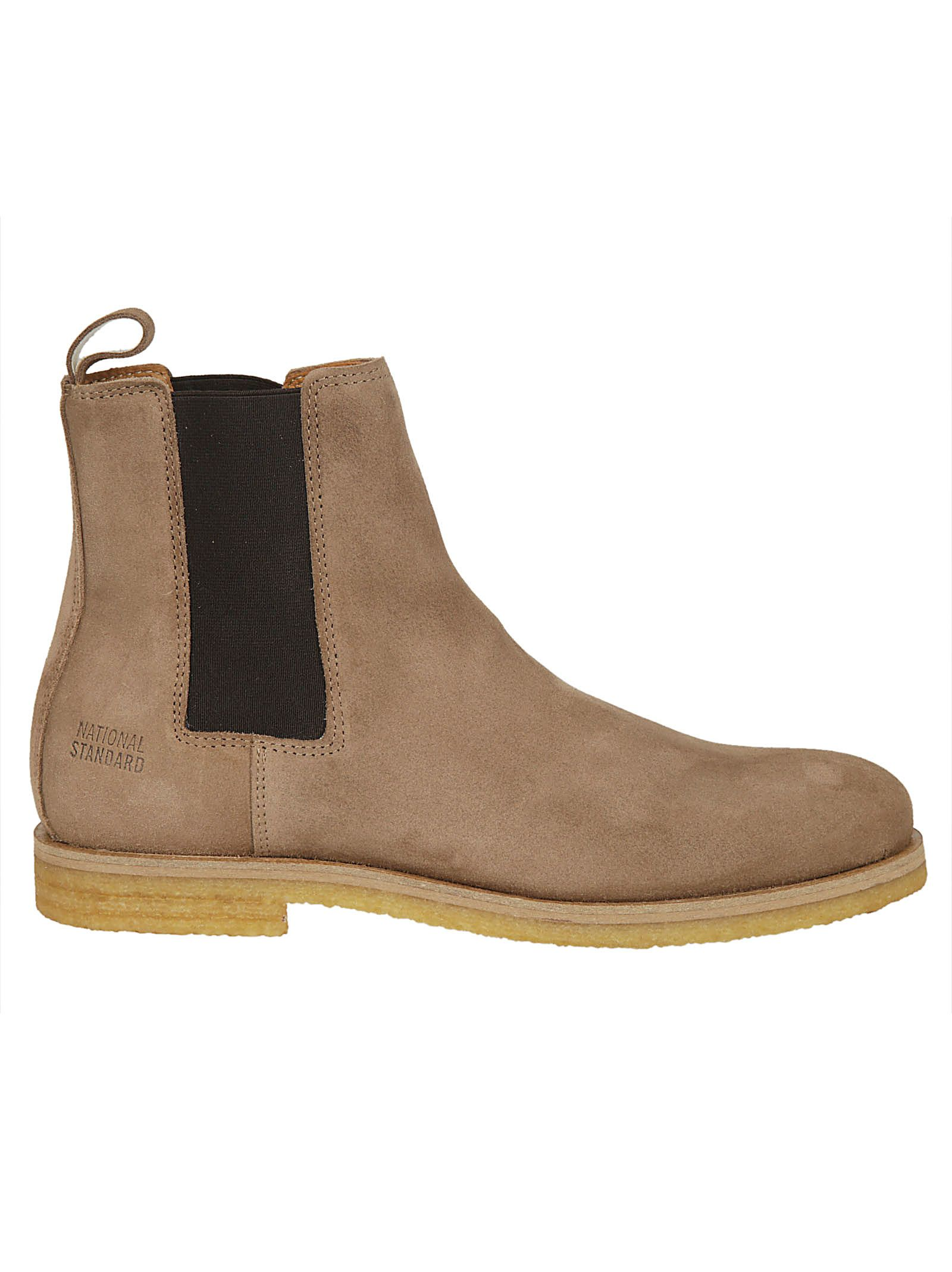 NATIONAL STANDARD Elasticated Side Ankle Boots in Naturale