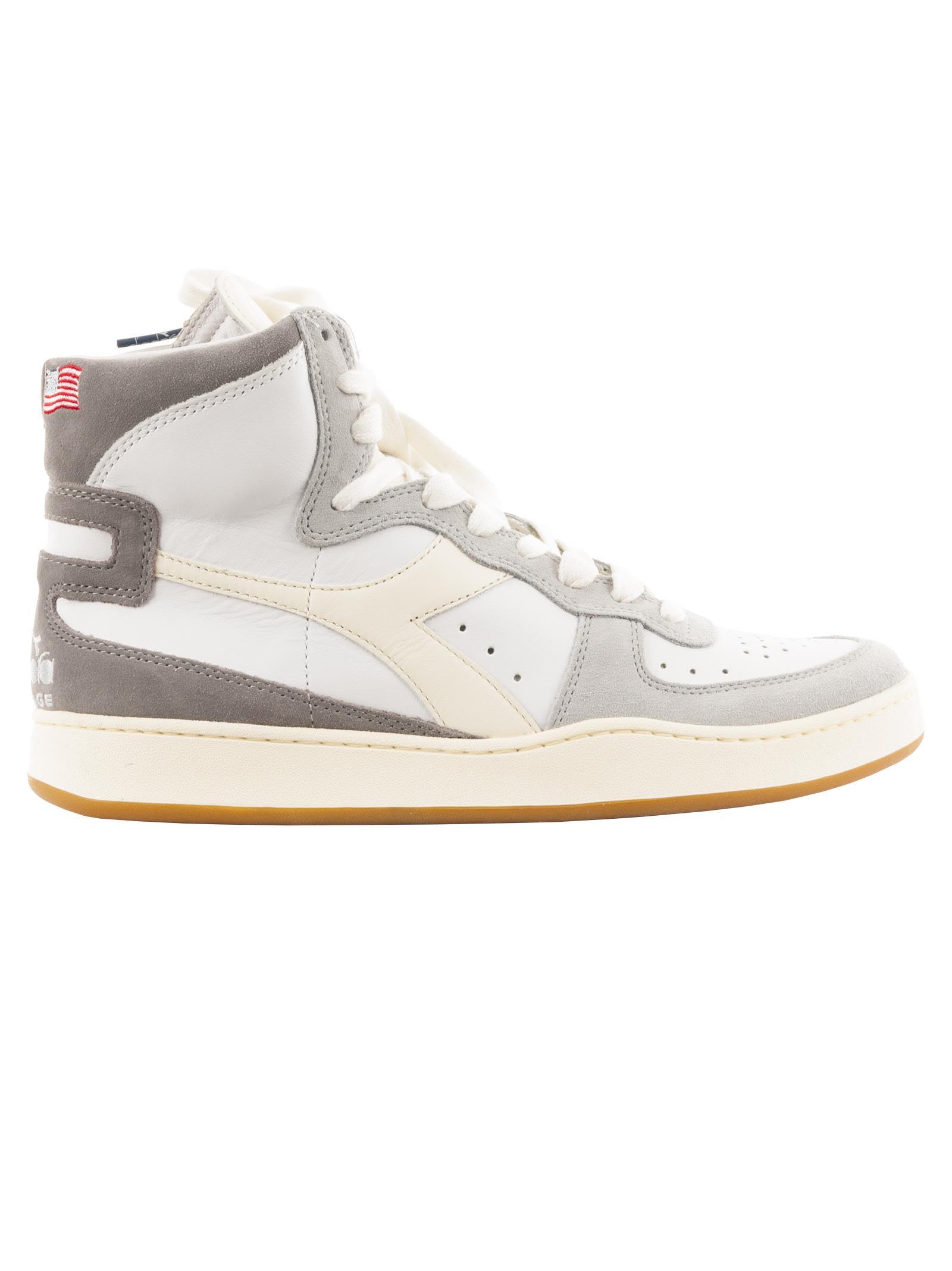 DIADORA Lc23 Mi Basket Marte Hi Top Sneakers in White