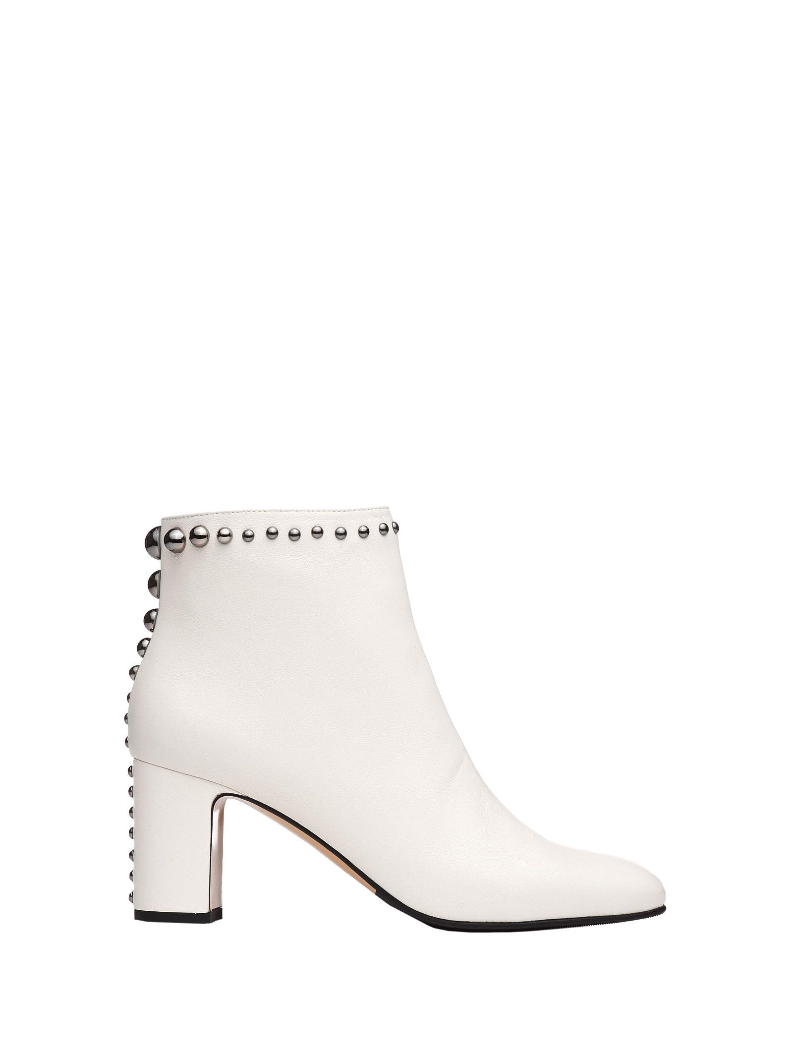 NINALILOU Ankle Boots With Studs in Panna