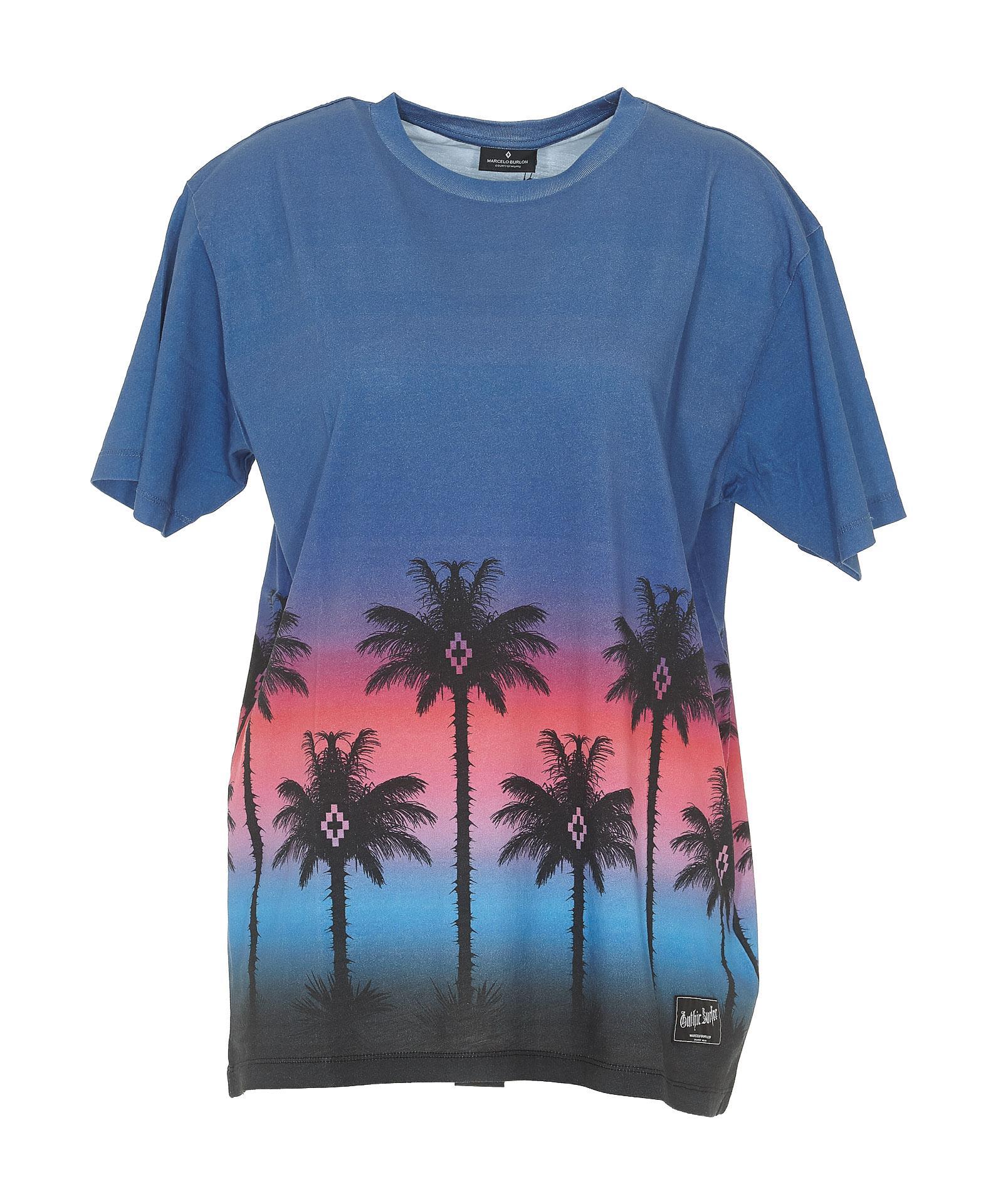 Best Sale Cheap Online Pink Palm t-shirt Marcelo Burlon Latest Q0Ug3N1DRn