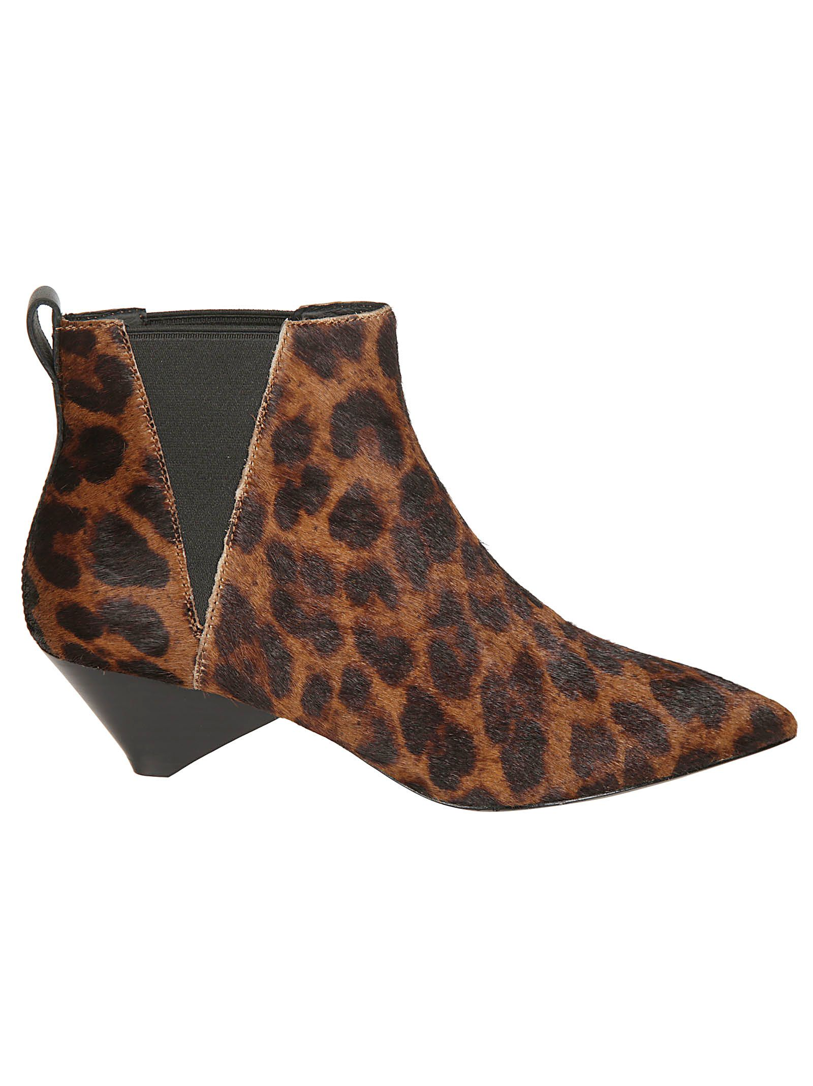 ASH Cosmos Pony Africa Ankle Boots in Brown