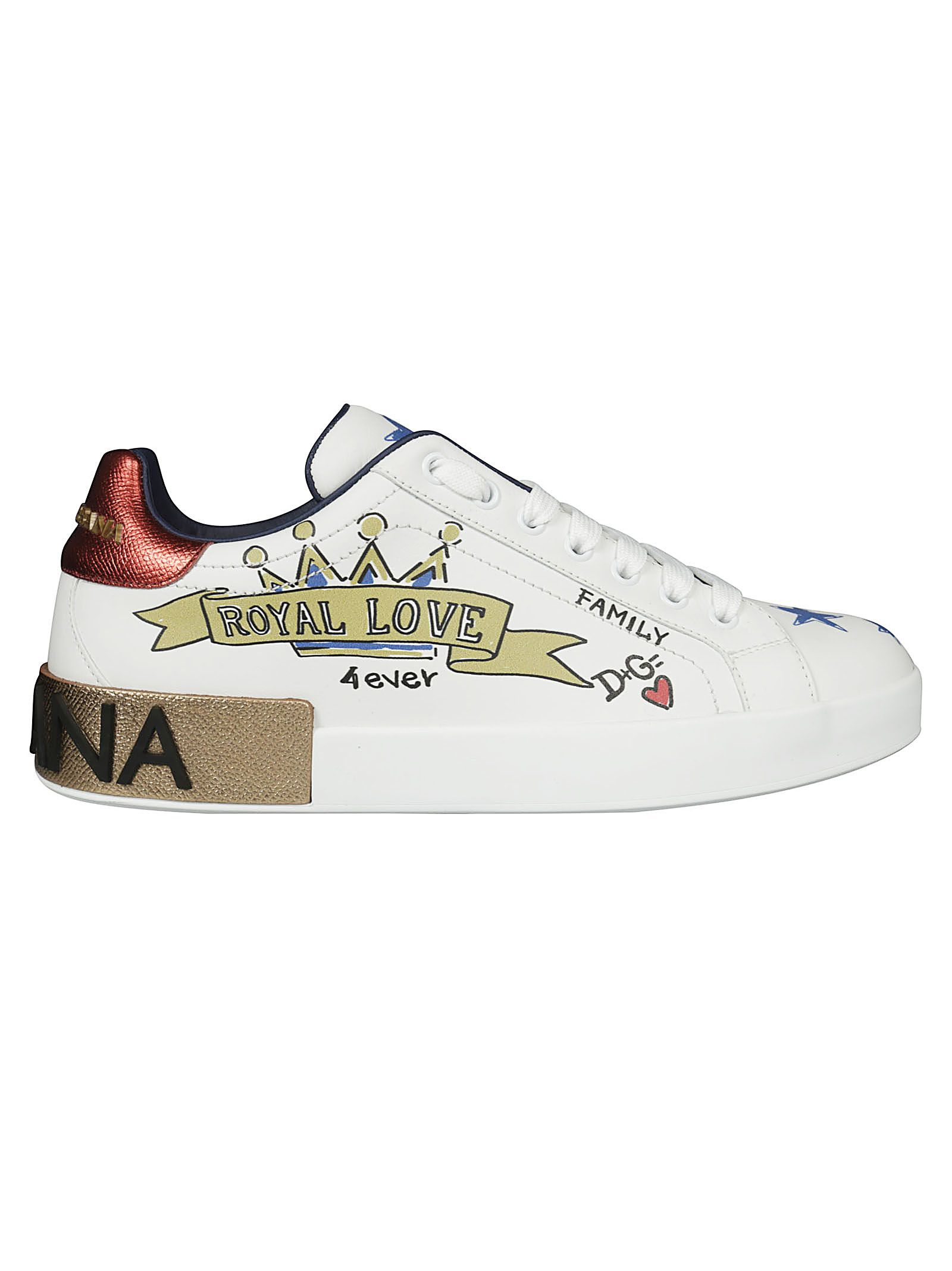 Dolce & Gabbana Leathers PRINTED SNEAKERS