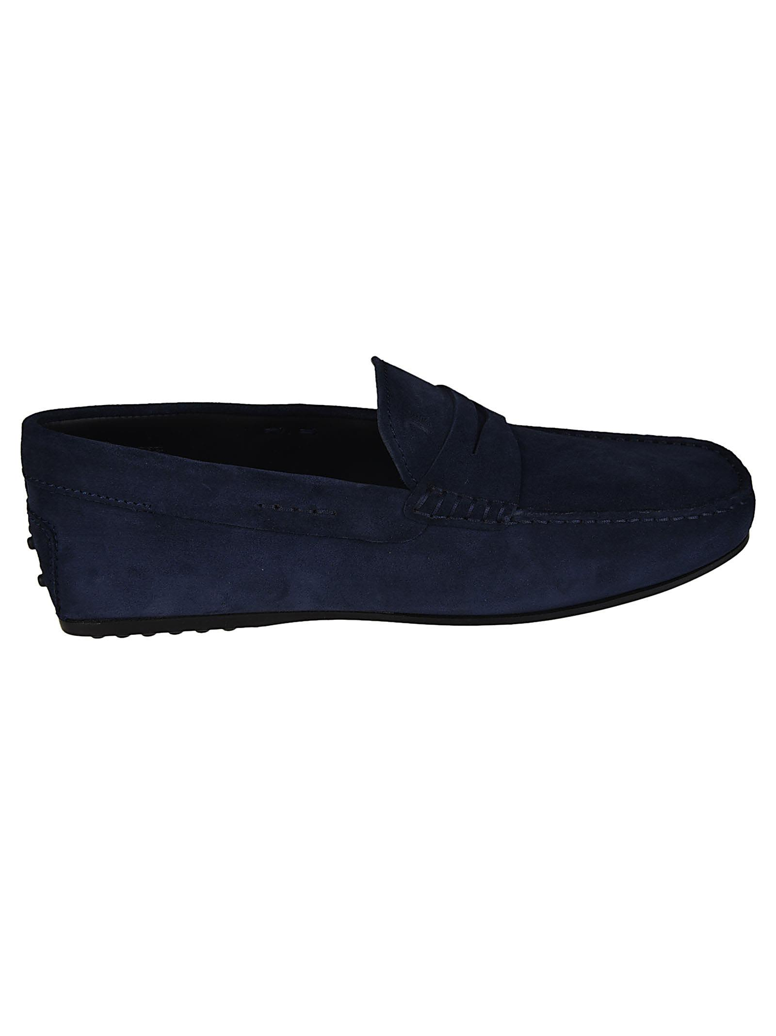 0a76a542aa6 Tod s City Gommino Suede Loafers - Dark blue ...