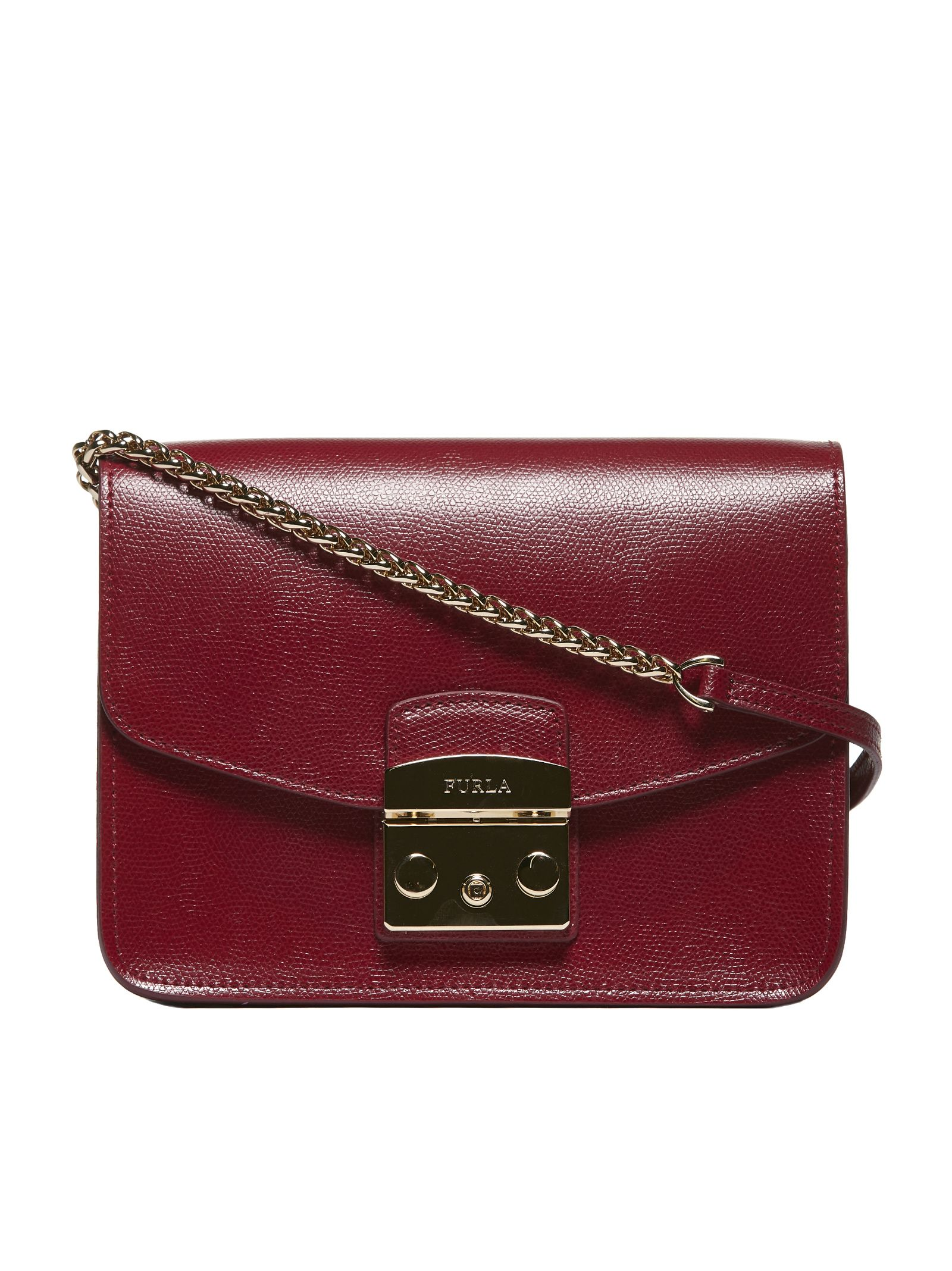 Italist Best Price In The Market For Furla Mini Metropolis Shoulder Bag Bordeaux