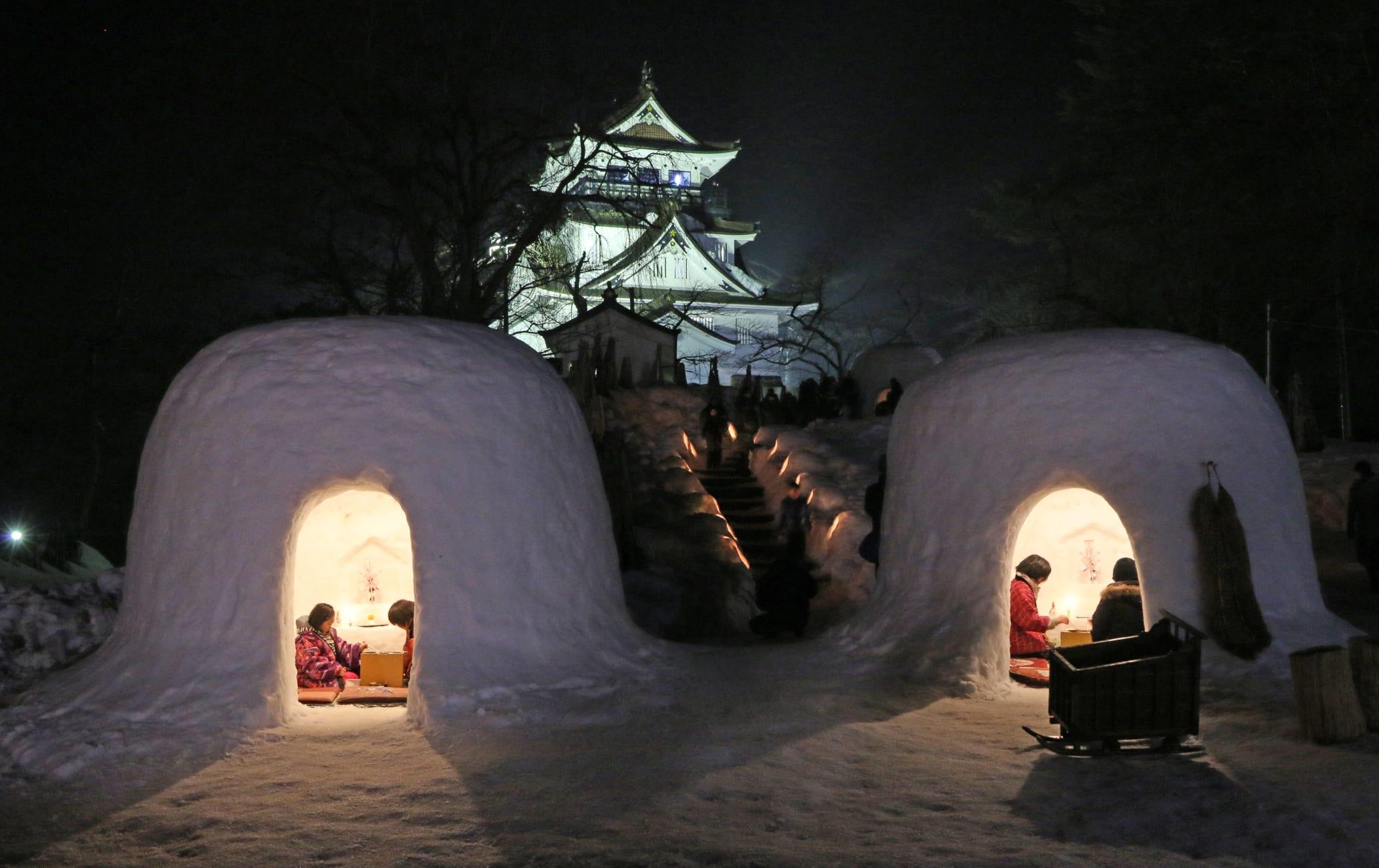 Yokote Kamakura Snow Festival