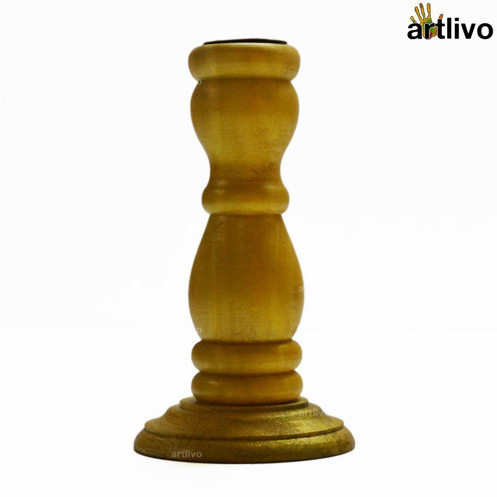 Golden Taper Candle Holder