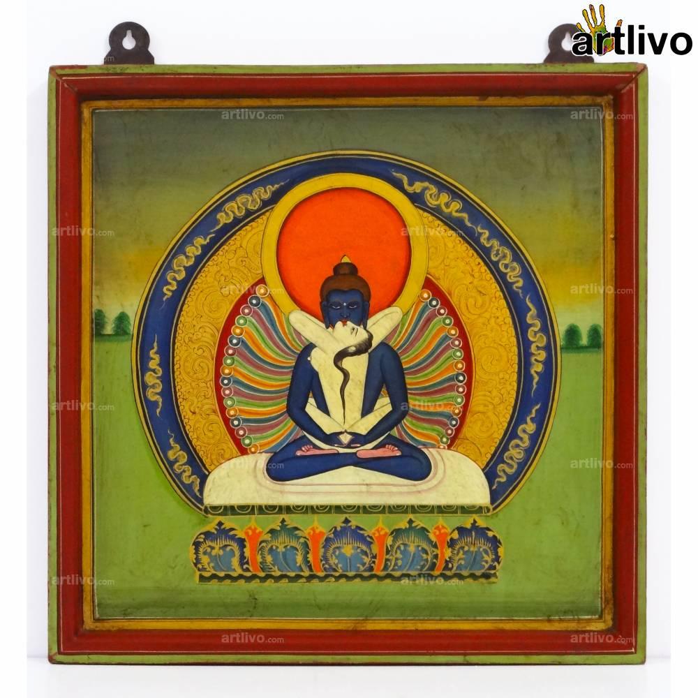 Erotic Buddha Painting on Wood
