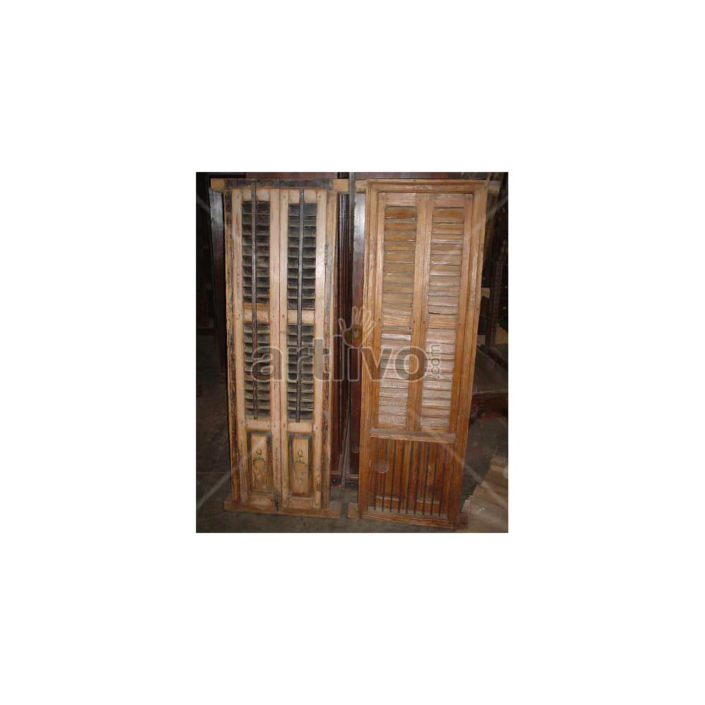 Antique Indian Engraved aristocratic Solid Wooden Teak Almirah