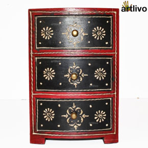 BOLD RED 3 Drawers Utility Box
