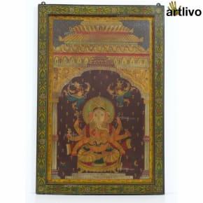 Detailed Ganesha Painting Panel