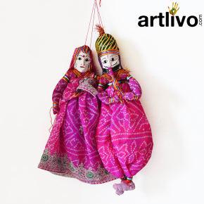 """POPART Pink Chundari Kathputli Puppet 18"""""""